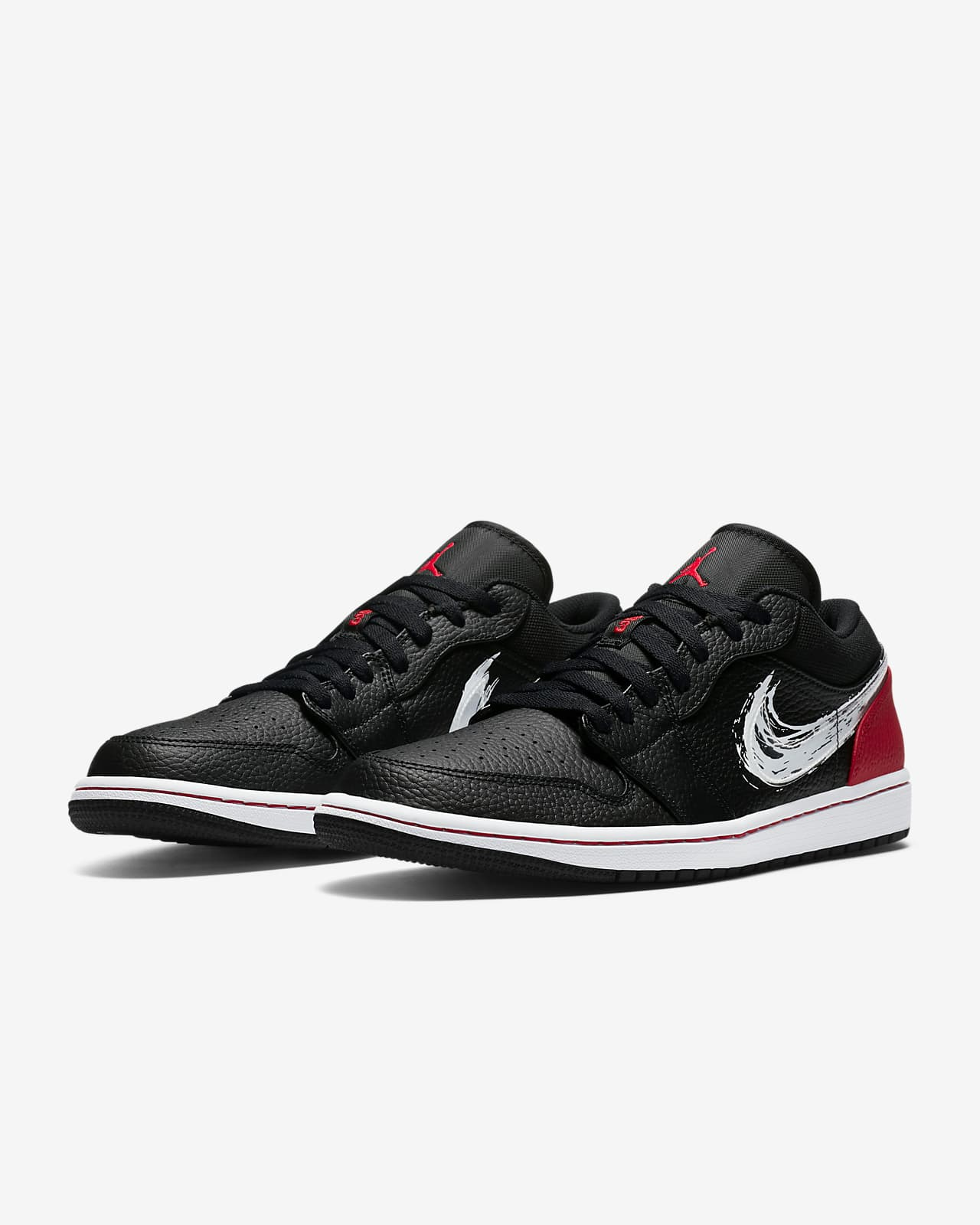 air jordan 1 low red white black