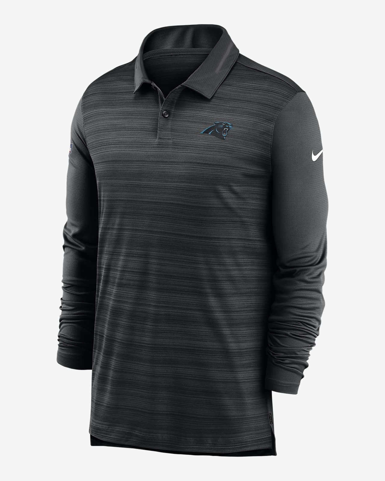 Nike Logo (NFL Panthers) Men's Long-Sleeve Polo