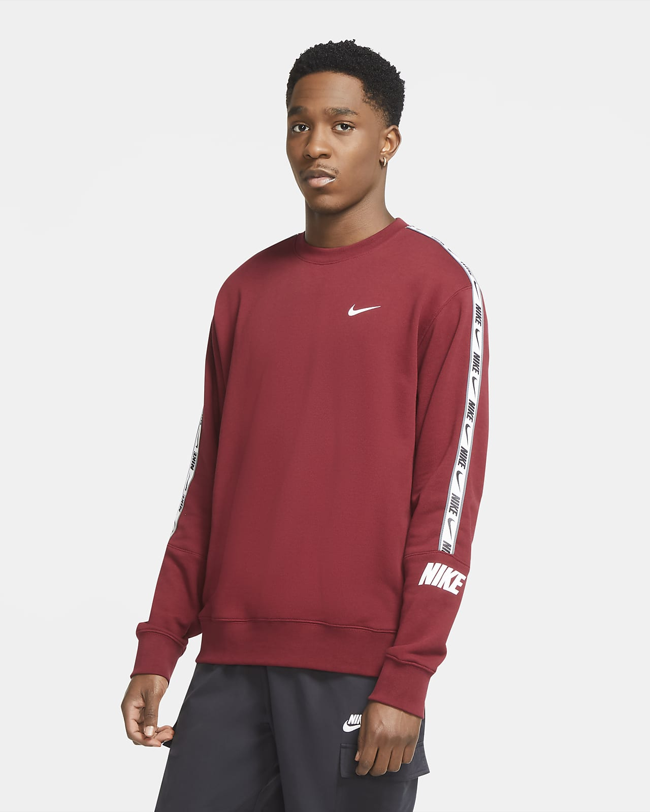 Tröja med rund hals i french terry Nike Sportswear för män
