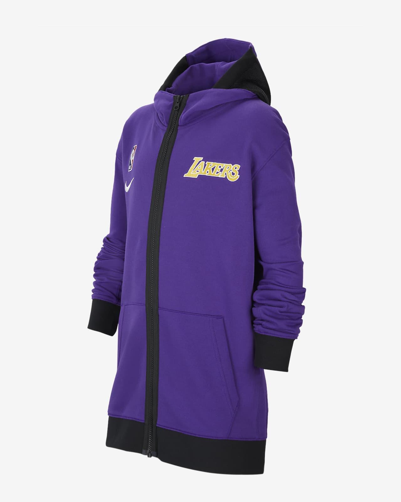 Felpa con cappuccio Los Angeles Lakers Showtime Nike Therma Flex NBA - Ragazzi