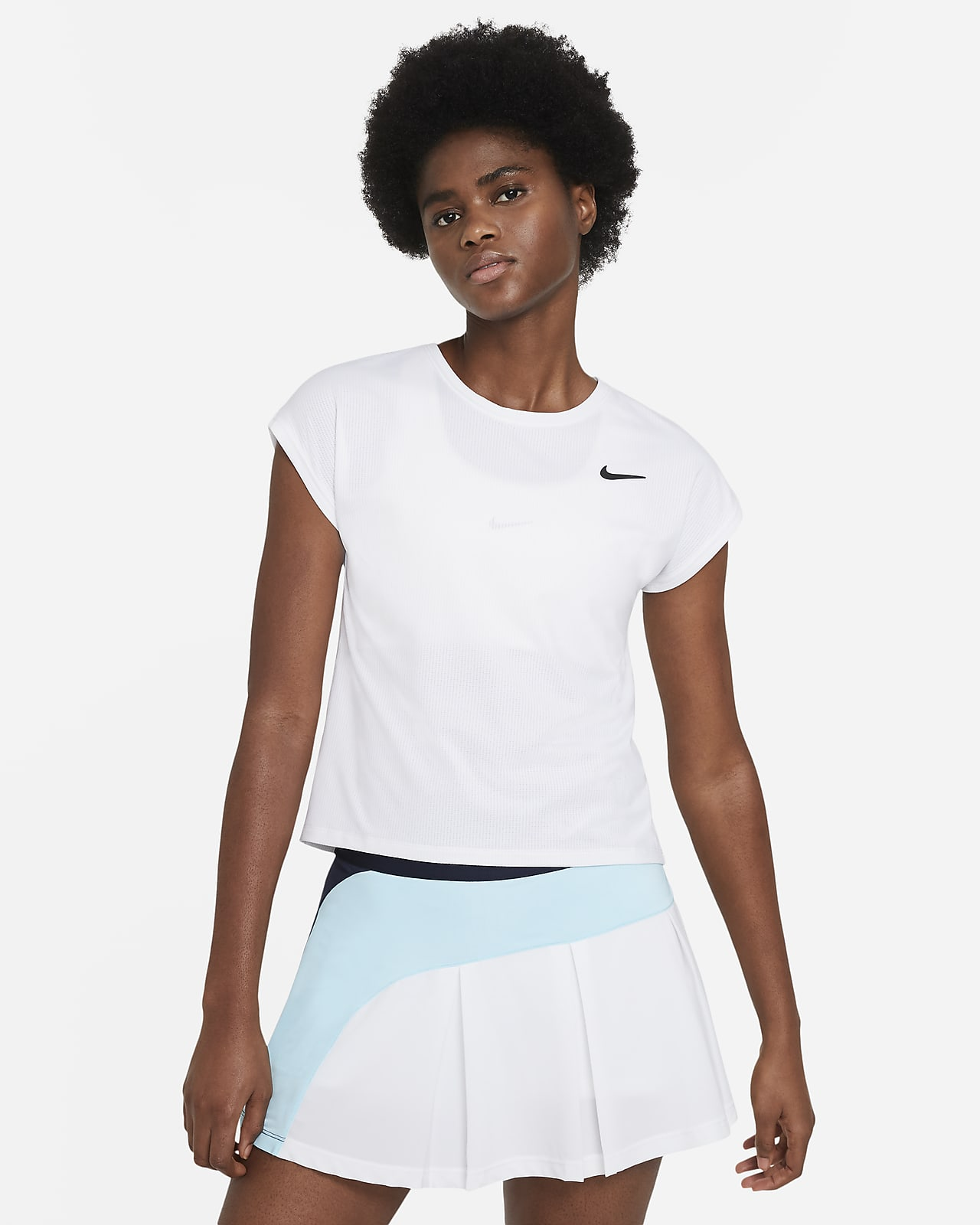 Camiseta de tenis de manga corta para mujer NikeCourt Dri-FIT Victory