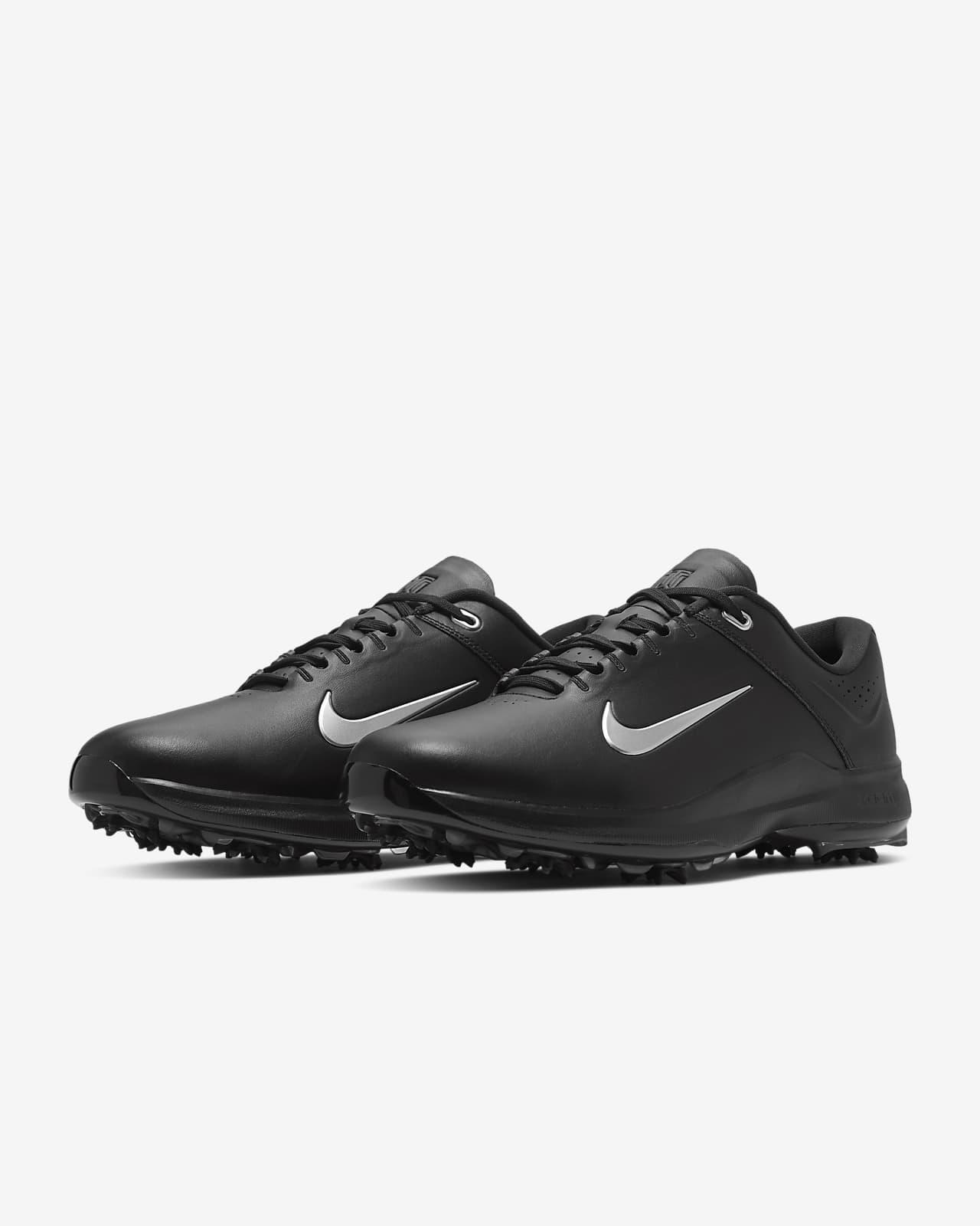 mens black nike golf shoes