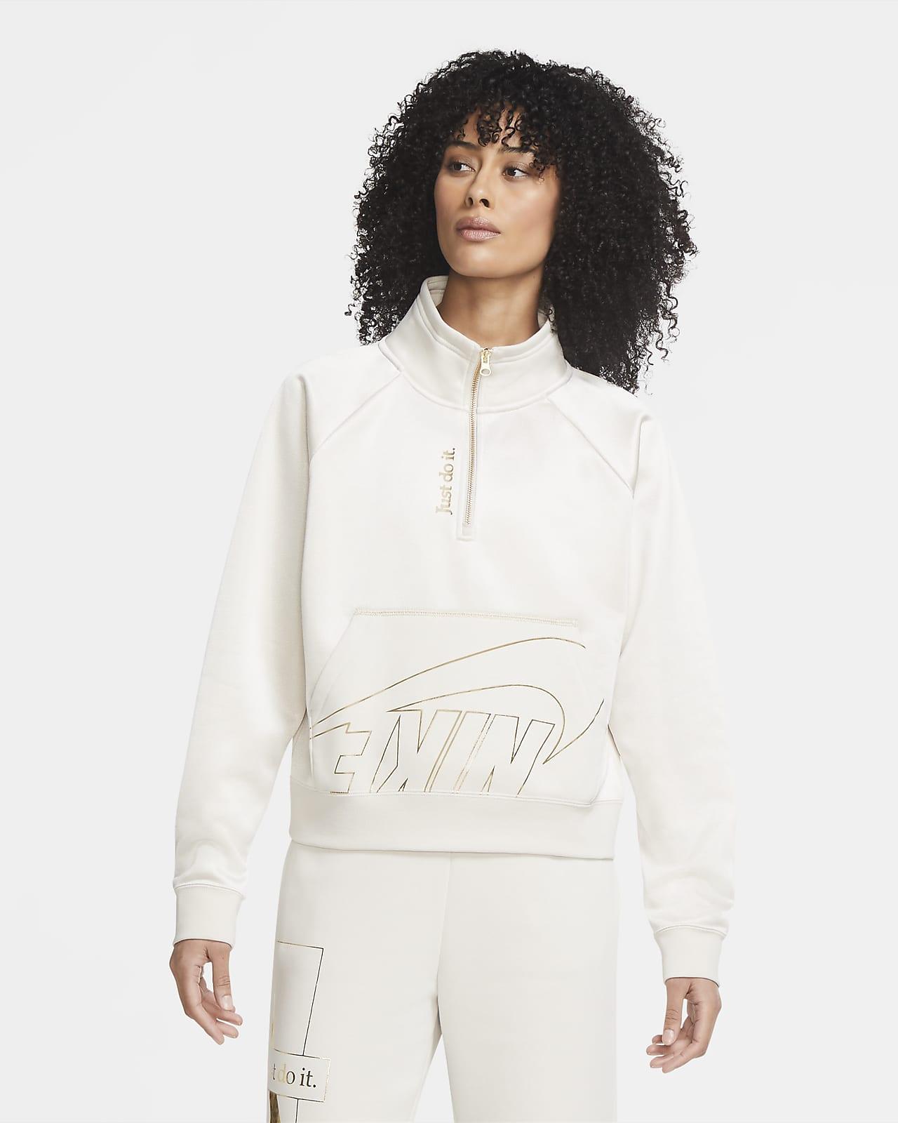Sudadera De Tejido Fleece Para Mujer Con Cierre De 1 4 Nike Sportswear Icon Clash Nike Com