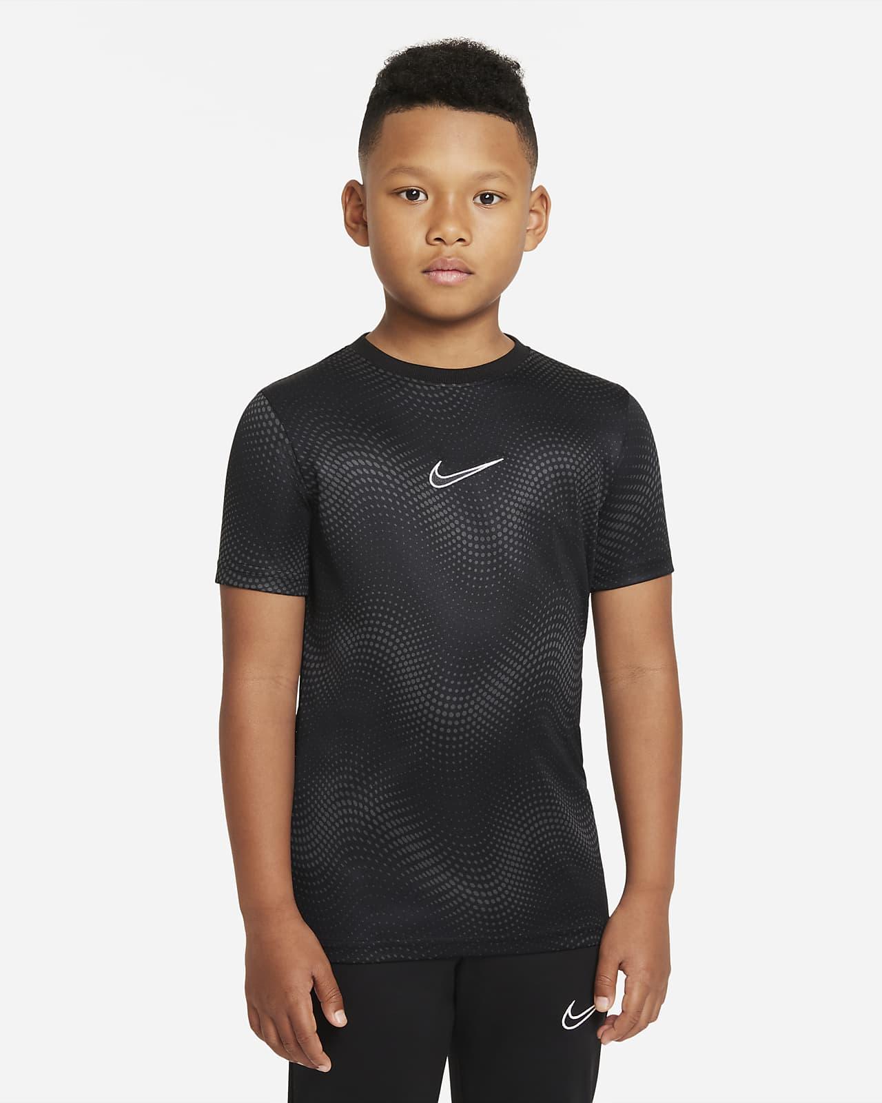 Camiseta de fútbol de manga corta para niños talla grande Nike Dri-FIT Academy