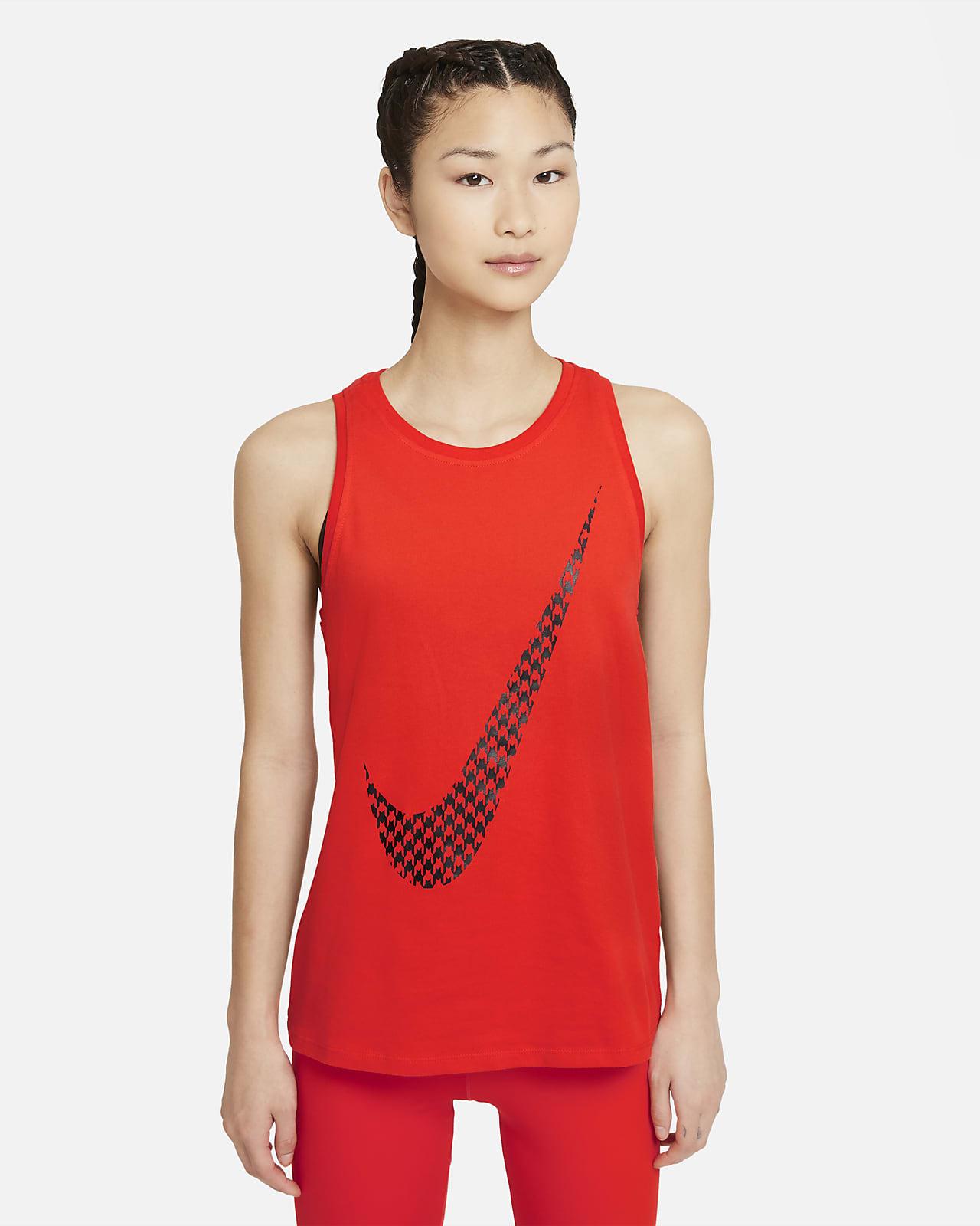 เสื้อกล้ามเทรนนิ่งผู้หญิงมีกราฟิก Nike Dri-FIT Icon Clash