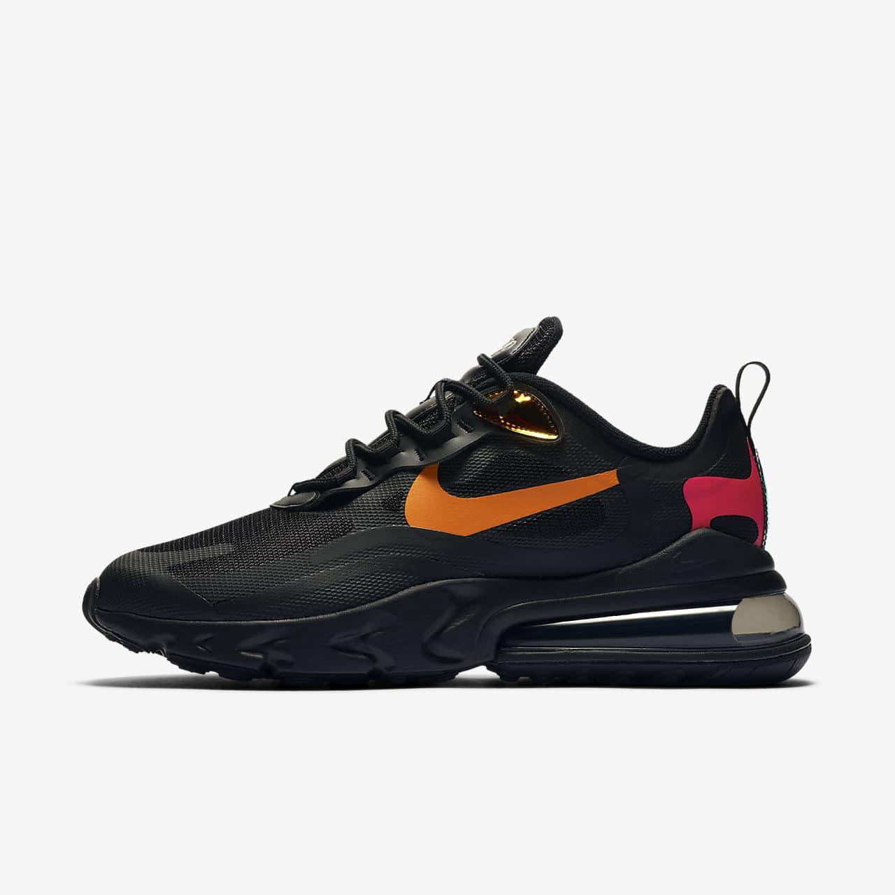 scarpe nike react uomo nere e arancione