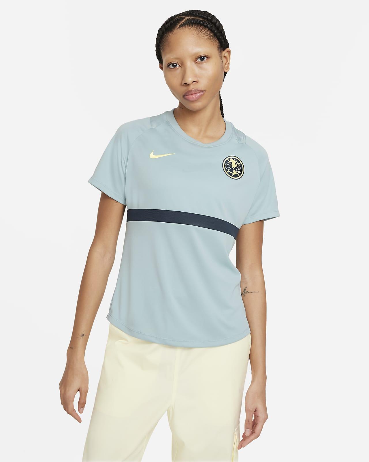Camiseta de fútbol de manga corta para mujer Club América Academy Pro