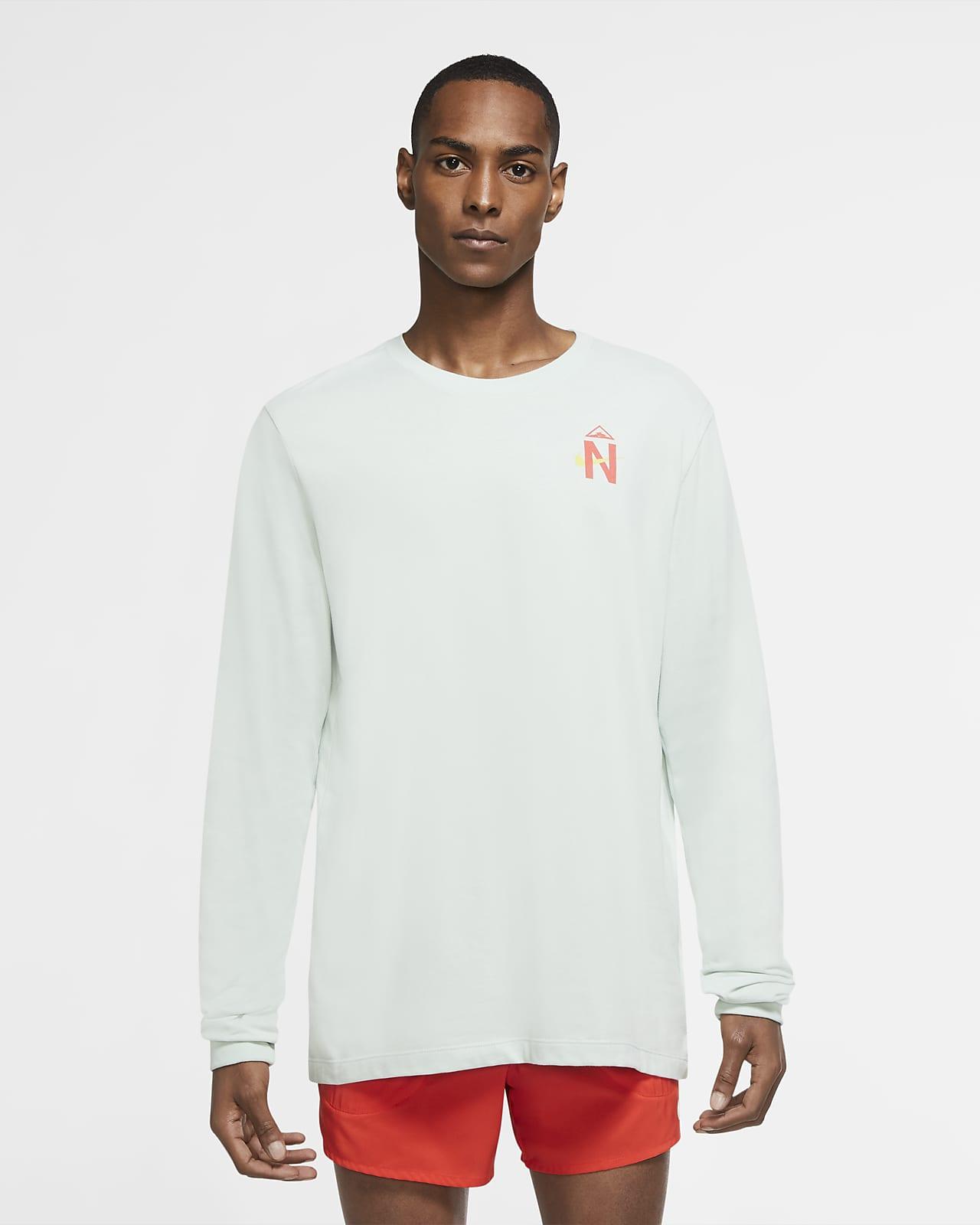 Мужская футболка для трейлраннинга с длинным рукавом Nike Dri-FIT Trail