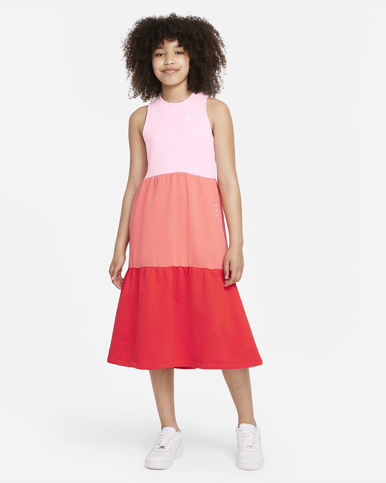 Nike Sportswear 大童 (女童) 法國毛圈布洋裝