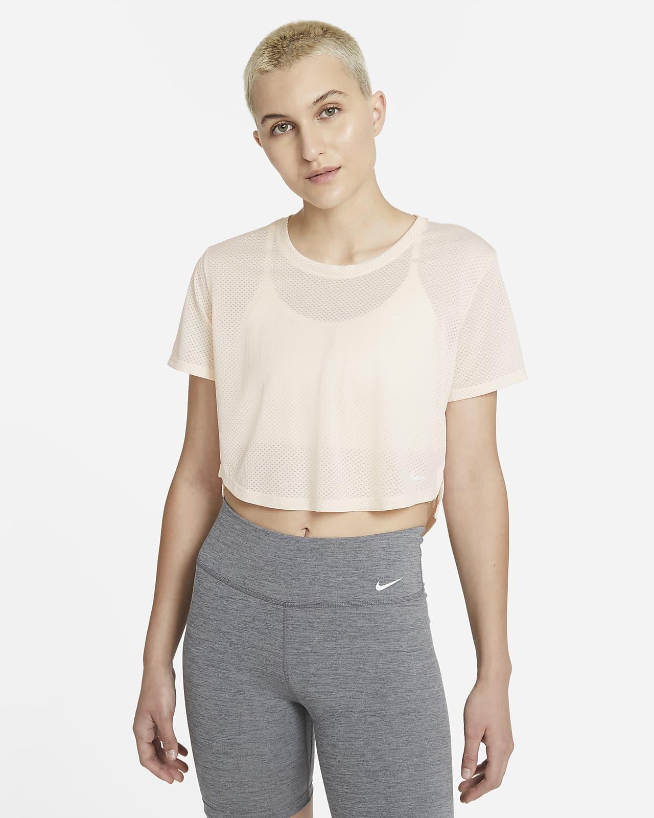 Nike Dri-FIT One kortermet overdel med standard passform til dame