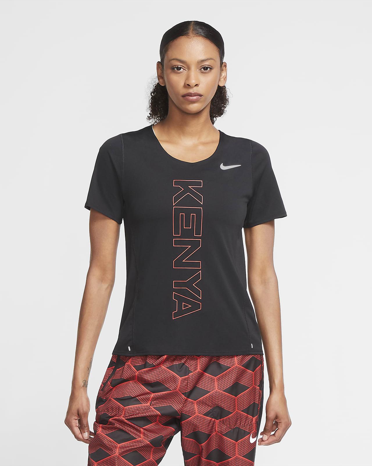 Γυναικεία μπλούζα για τρέξιμο Nike Team Κένυα City Sleek