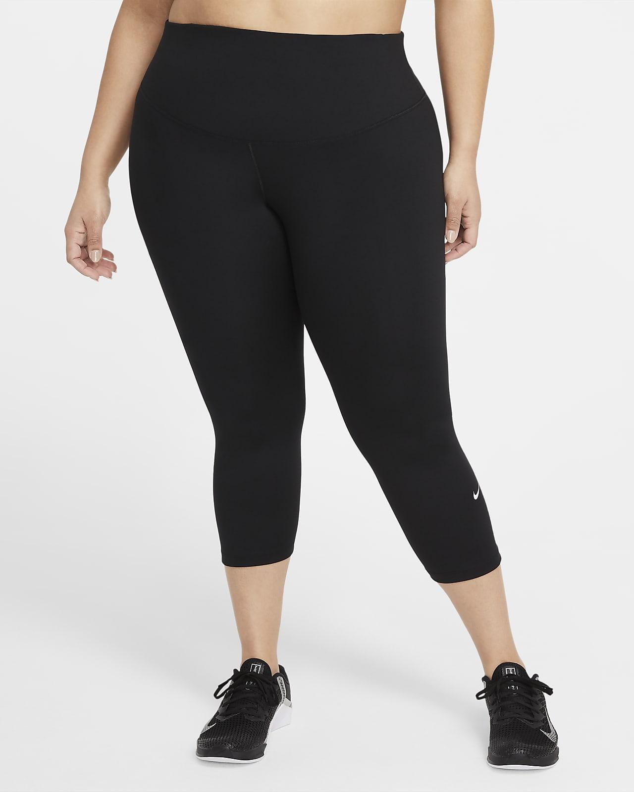 Korte Nike One-leggings med mellemhøj talje til kvinder (plus size)