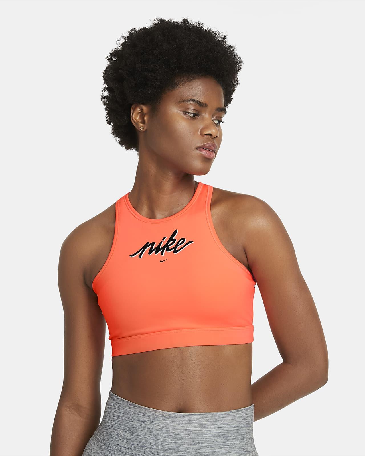 Bra deportivo con almohadilla de sujeción media para mujer Nike Swoosh