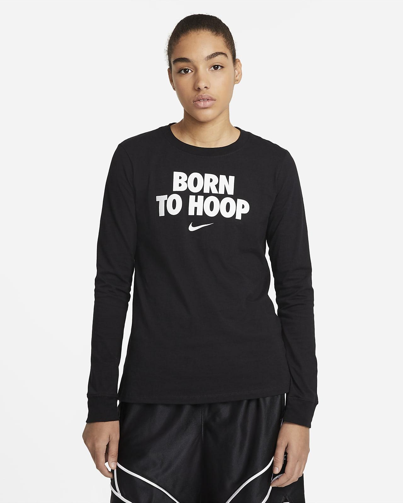 "Nike DNA ""Born To Hoop"" Women's Long-Sleeve Basketball T-Shirt"