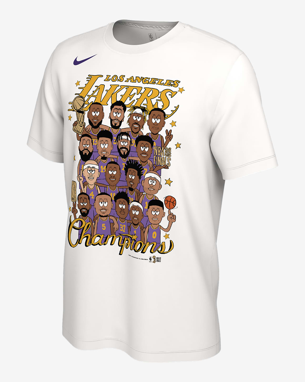 Los Angeles Lakers Champions Nike NBA Club Roster T-Shirt ...