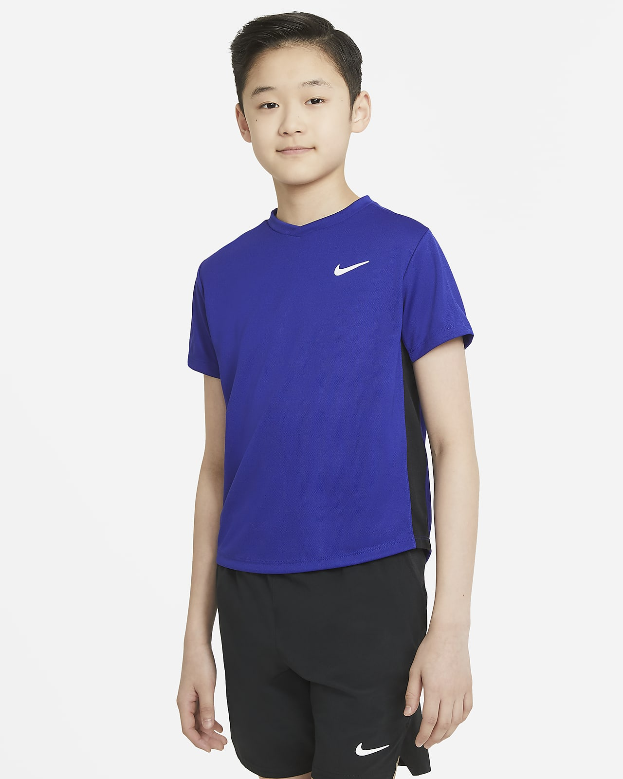 NikeCourt Dri-FIT Victory Older Kids' (Boys') Short-Sleeve Tennis Top