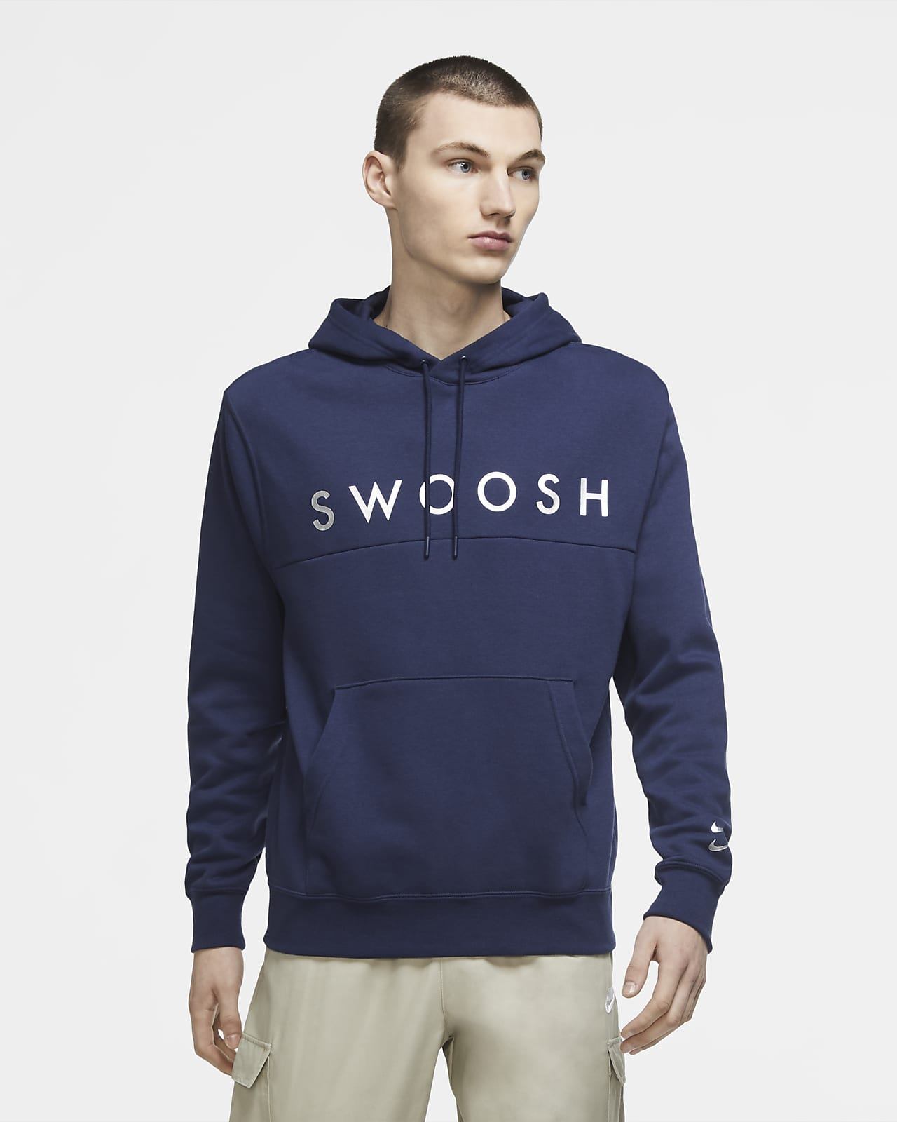 Nike hettegenser med Swoosh logo til herre. Nike NO