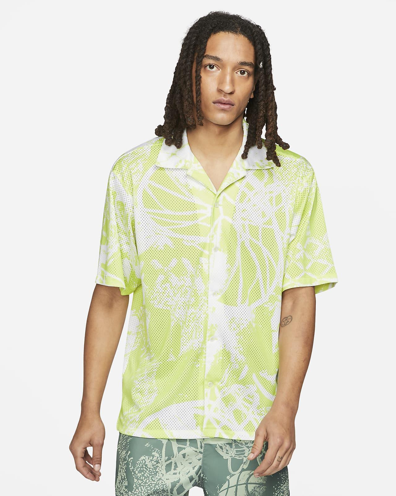 Camisa con botones de manga corta estampada para hombre Jordan Flight