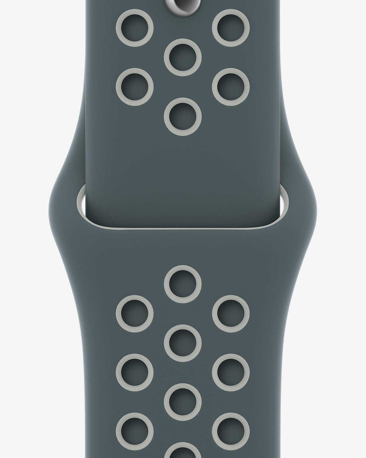 44mm Hasta/Light Silver Nike Sport Band — Regular