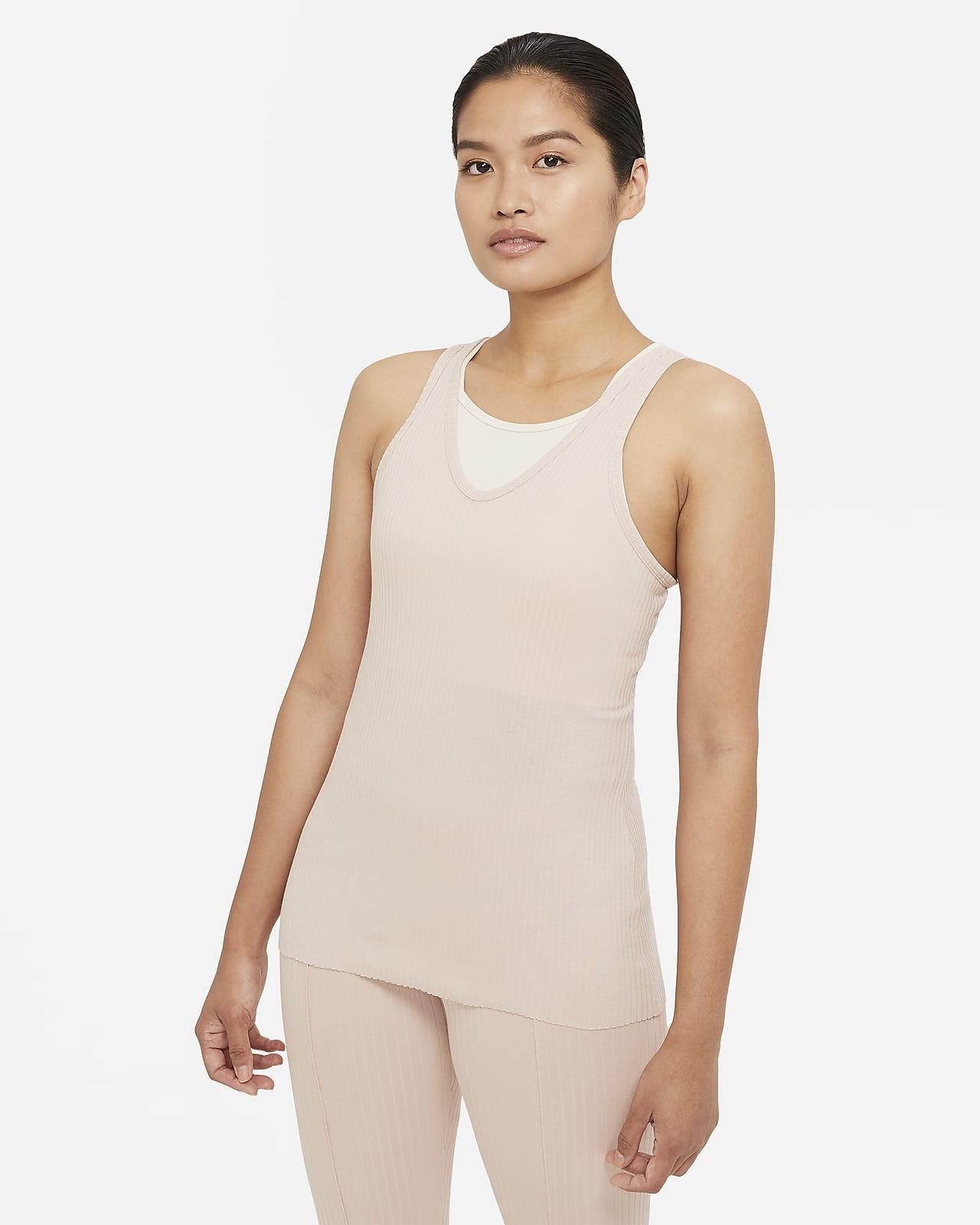 เสื้อกล้ามผ้าจั๊มพ์ผู้หญิง Nike Yoga