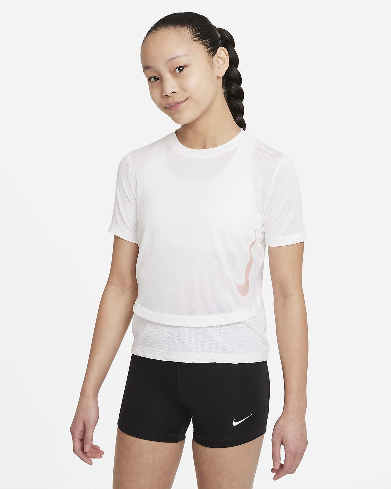 Camiseta de entrenamiento para niña talla grande Nike Dri-FIT Instacool