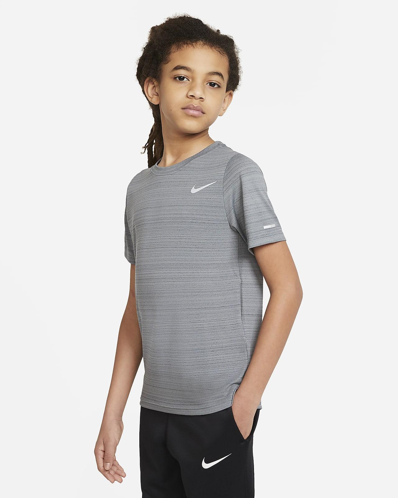 Haut de training Nike Dri-FIT Miler pour Garçon plus âgé
