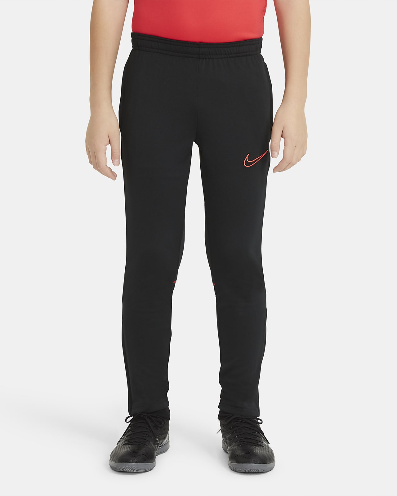 กางเกงฟุตบอลถักขายาวเด็กโต Nike Dri-FIT Academy