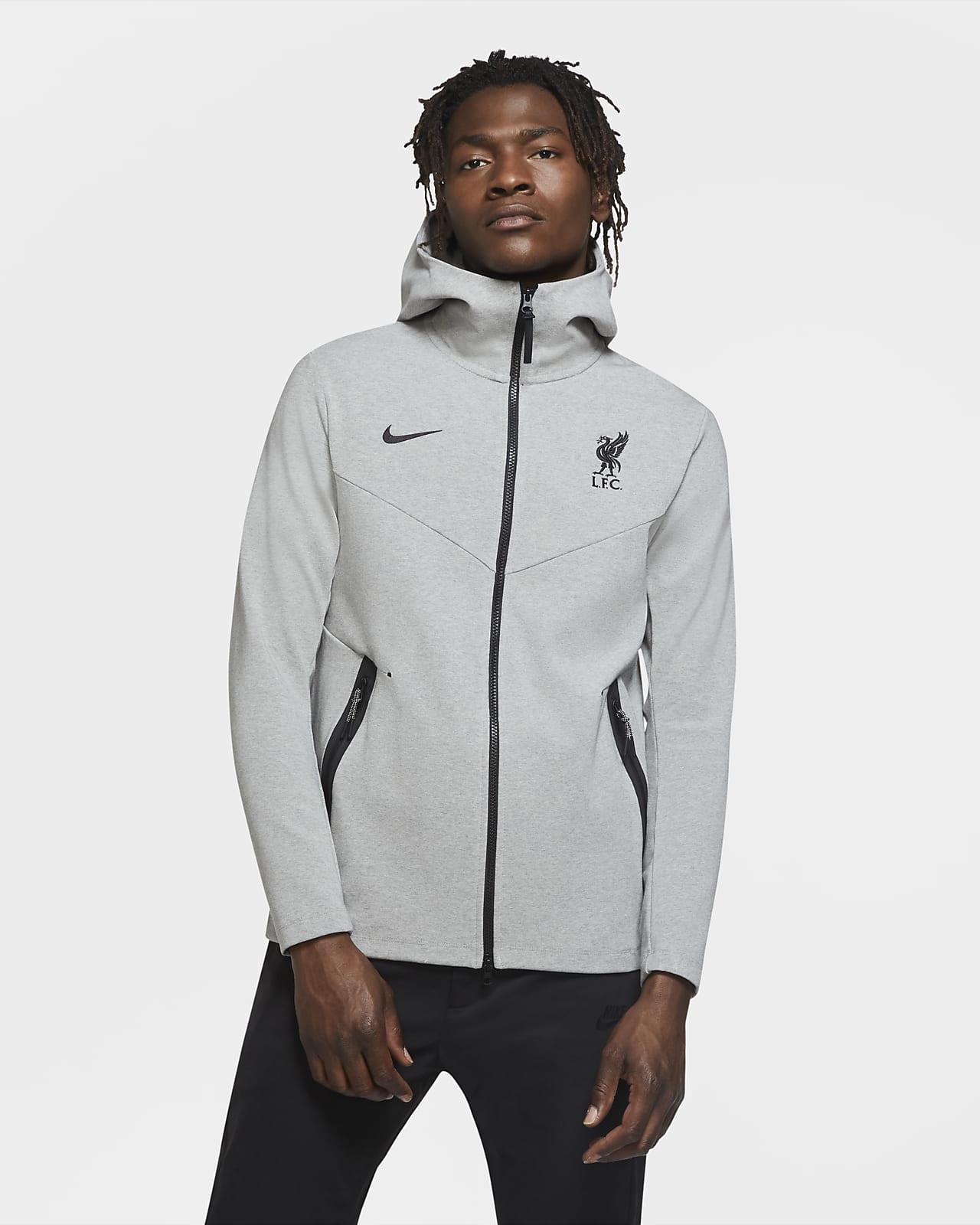 Sweat à capuche à zip Liverpool FC Tech Pack pour Homme