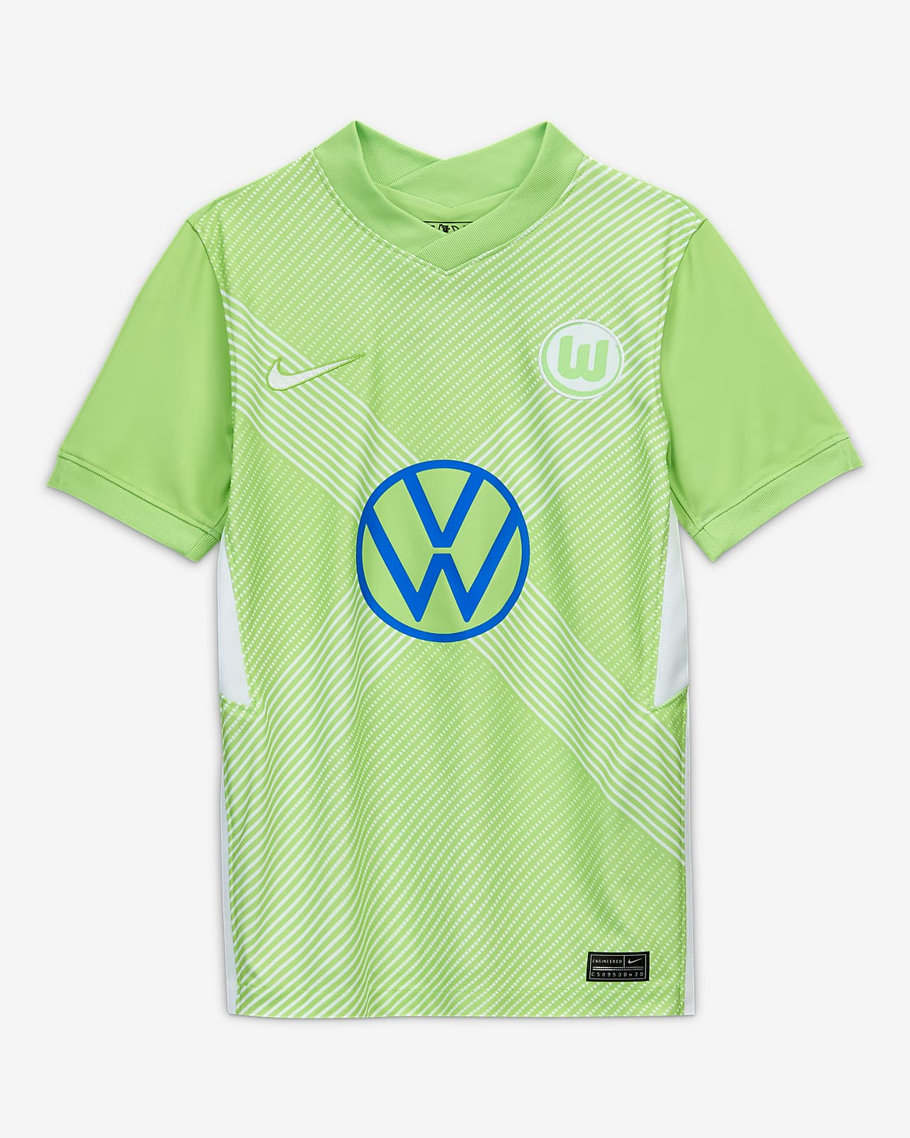 VfL Wolfsburg 2020/21 Stadium Home Older Kids' Football Shirt