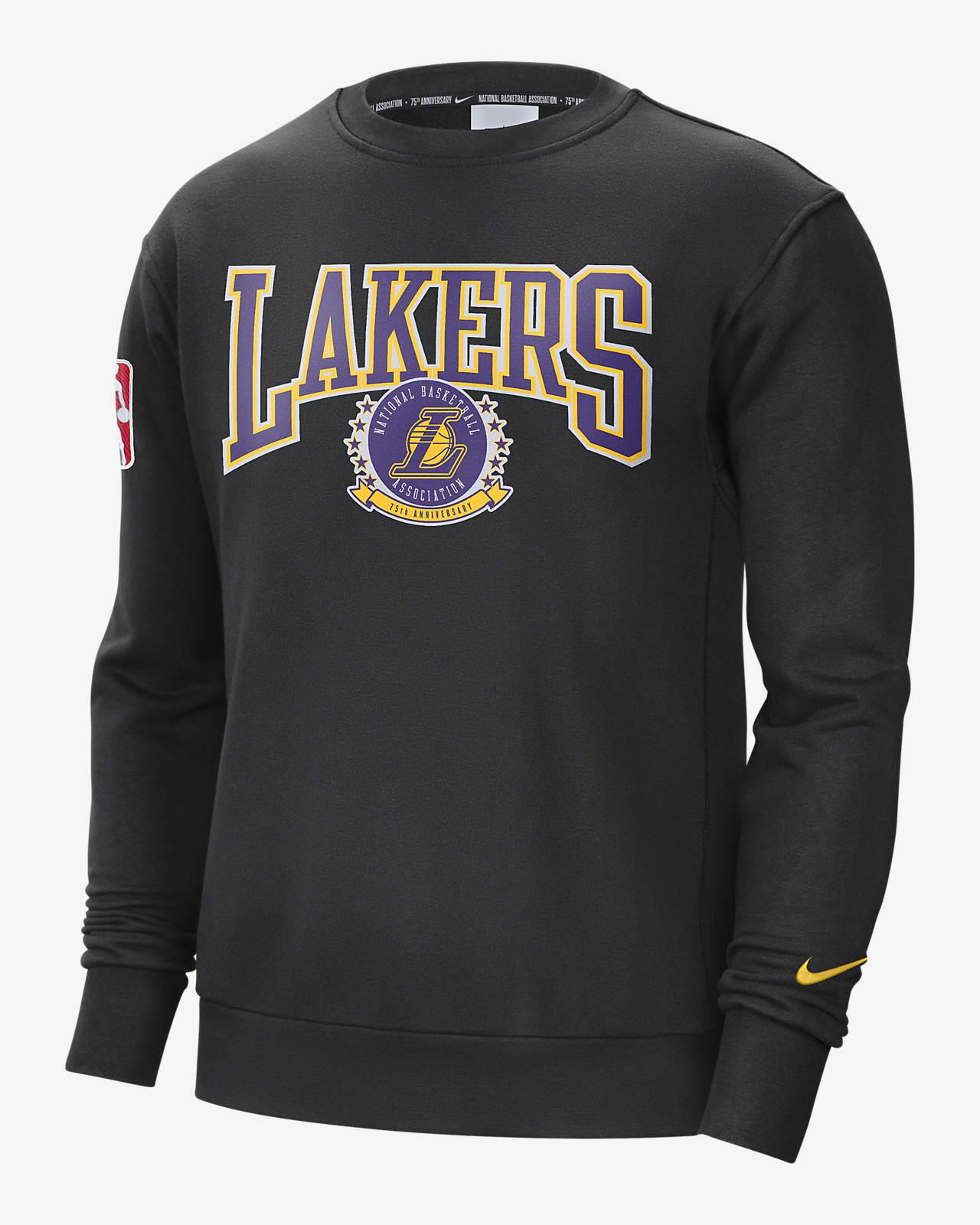 Sweat-shirt en tissu Fleece Nike NBA Los Angeles Lakers Courtside pour Homme