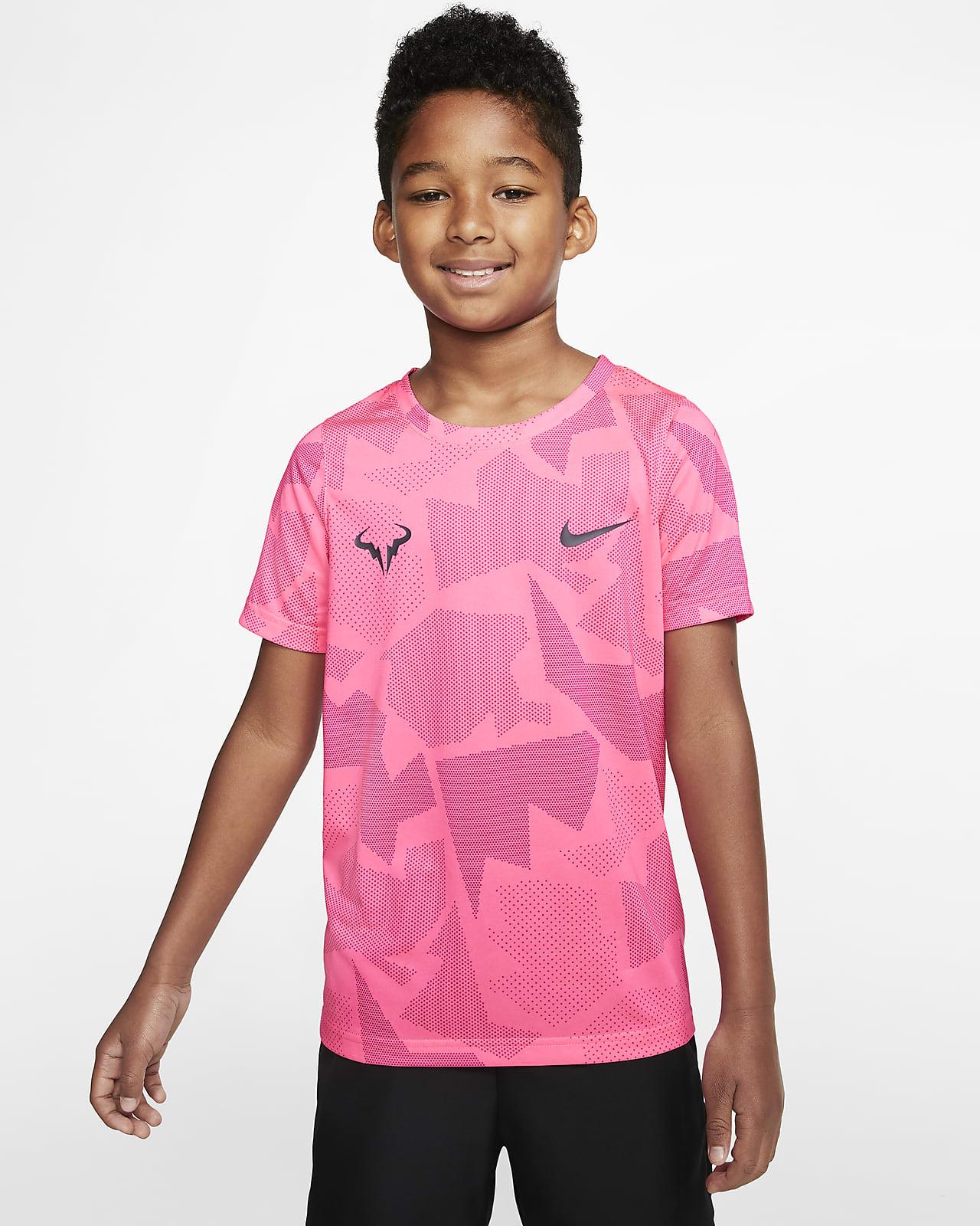 Tee shirt de tennis NikeCourt Dri FIT Rafa pour Garçon plus âgé