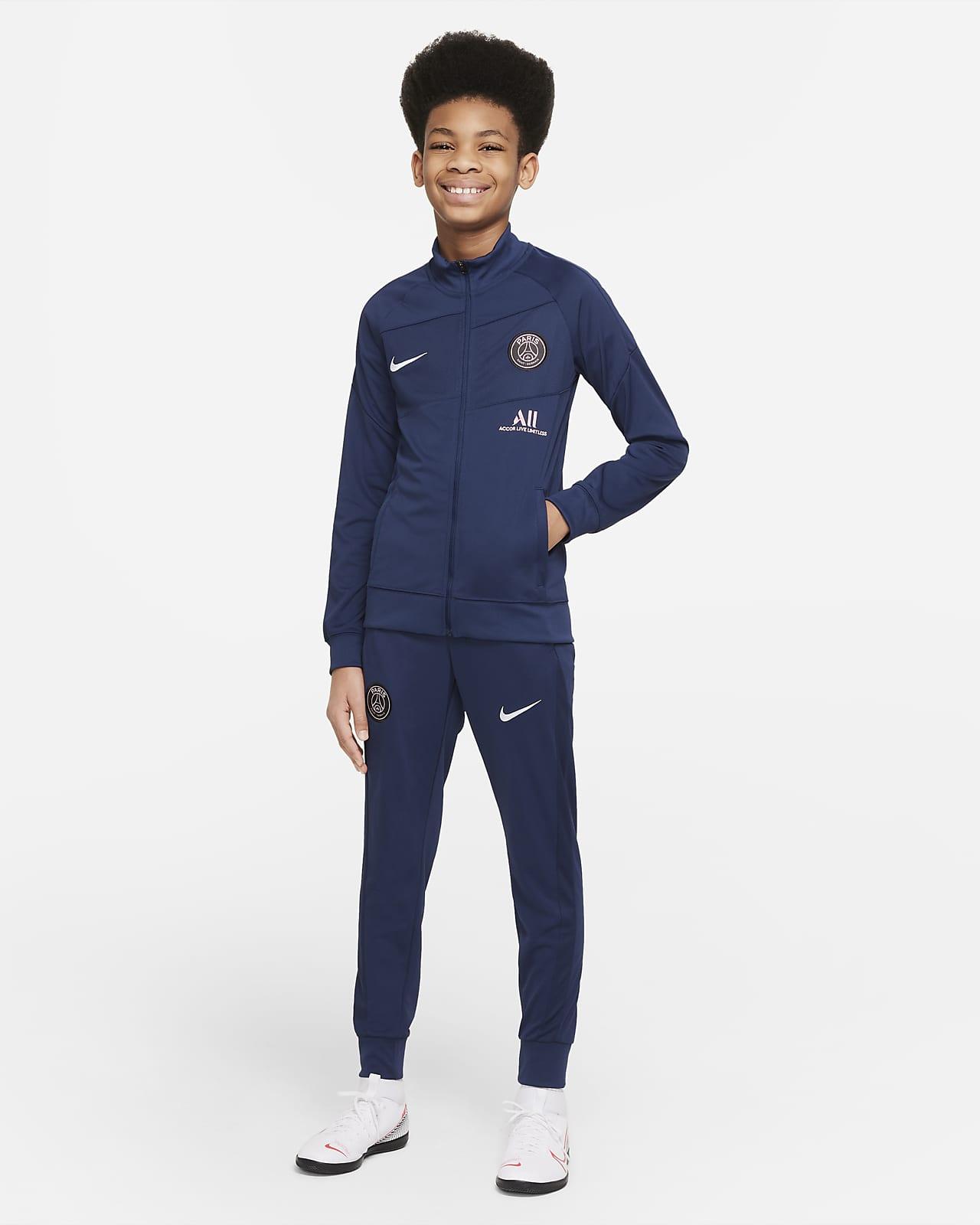 Paris Saint-Germain Academy Pro Nike Dri-FIT Genç Çocuk Futbol Eşofmanı