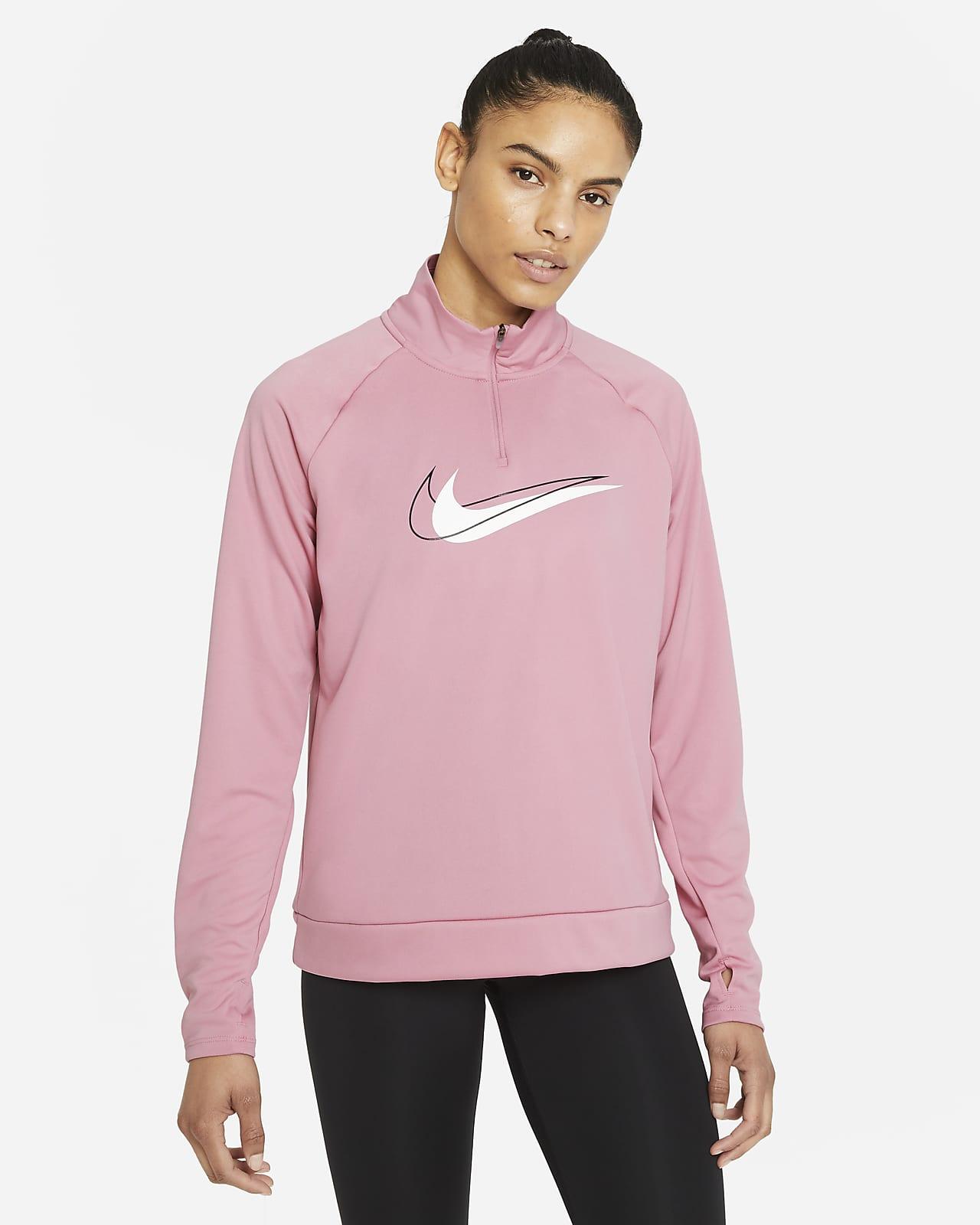 Capa media de running de medio cierre para mujer Nike Dri-FIT Swoosh Run