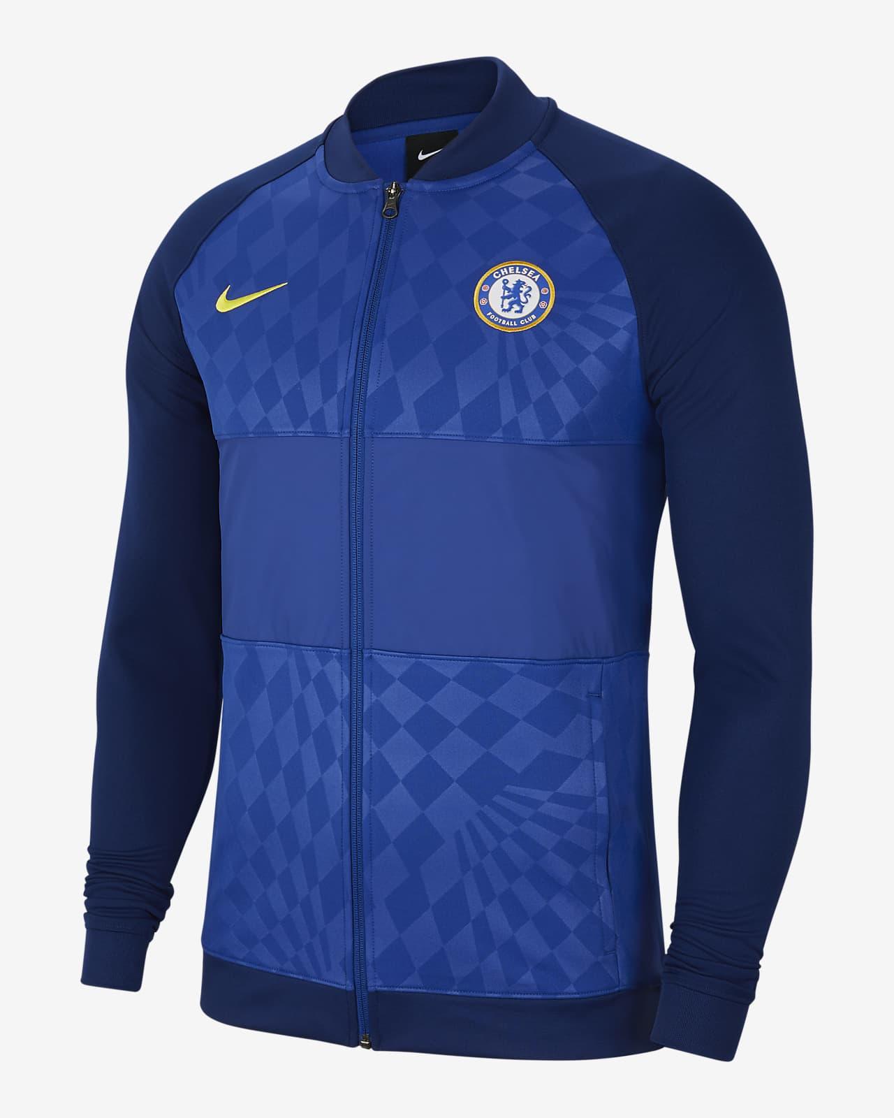 Veste de survêtement de football à zip Chelsea FC pour Homme