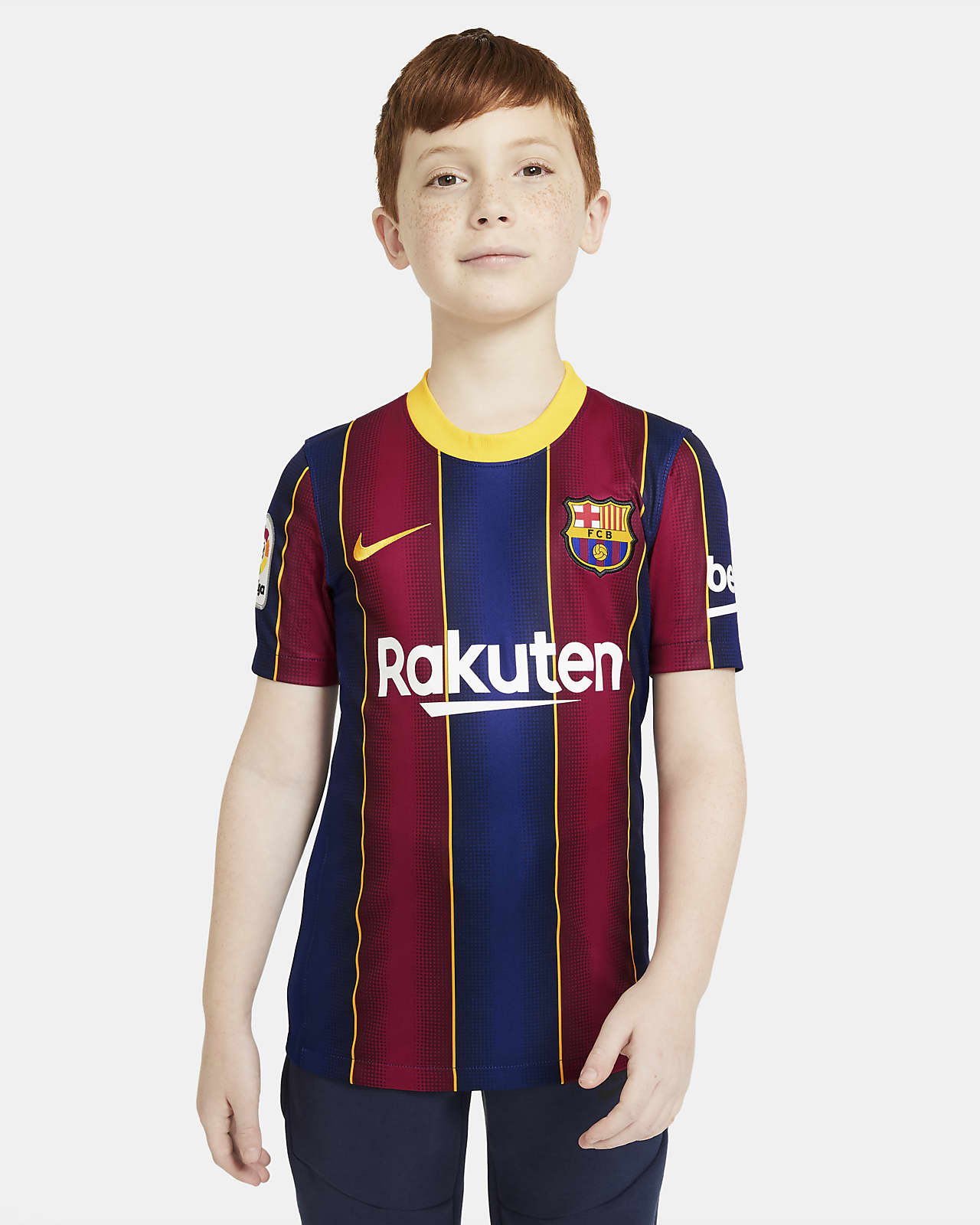 Ποδοσφαιρική φανέλα Μπαρτσελόνα 2020/21 Stadium Home για μεγάλα παιδιά