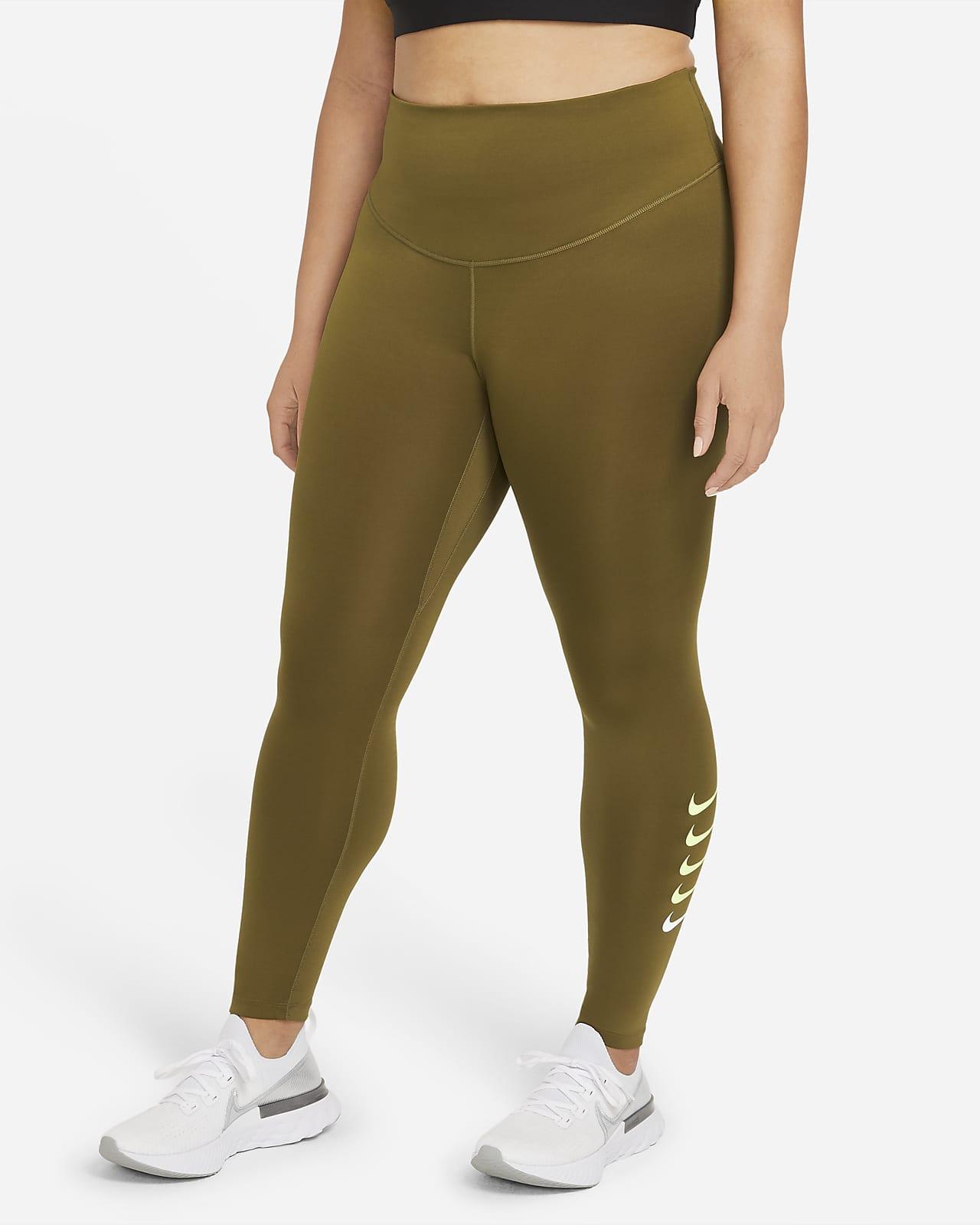 Nike Swoosh Run 7/8-hardlooptights voor dames (grote maten)