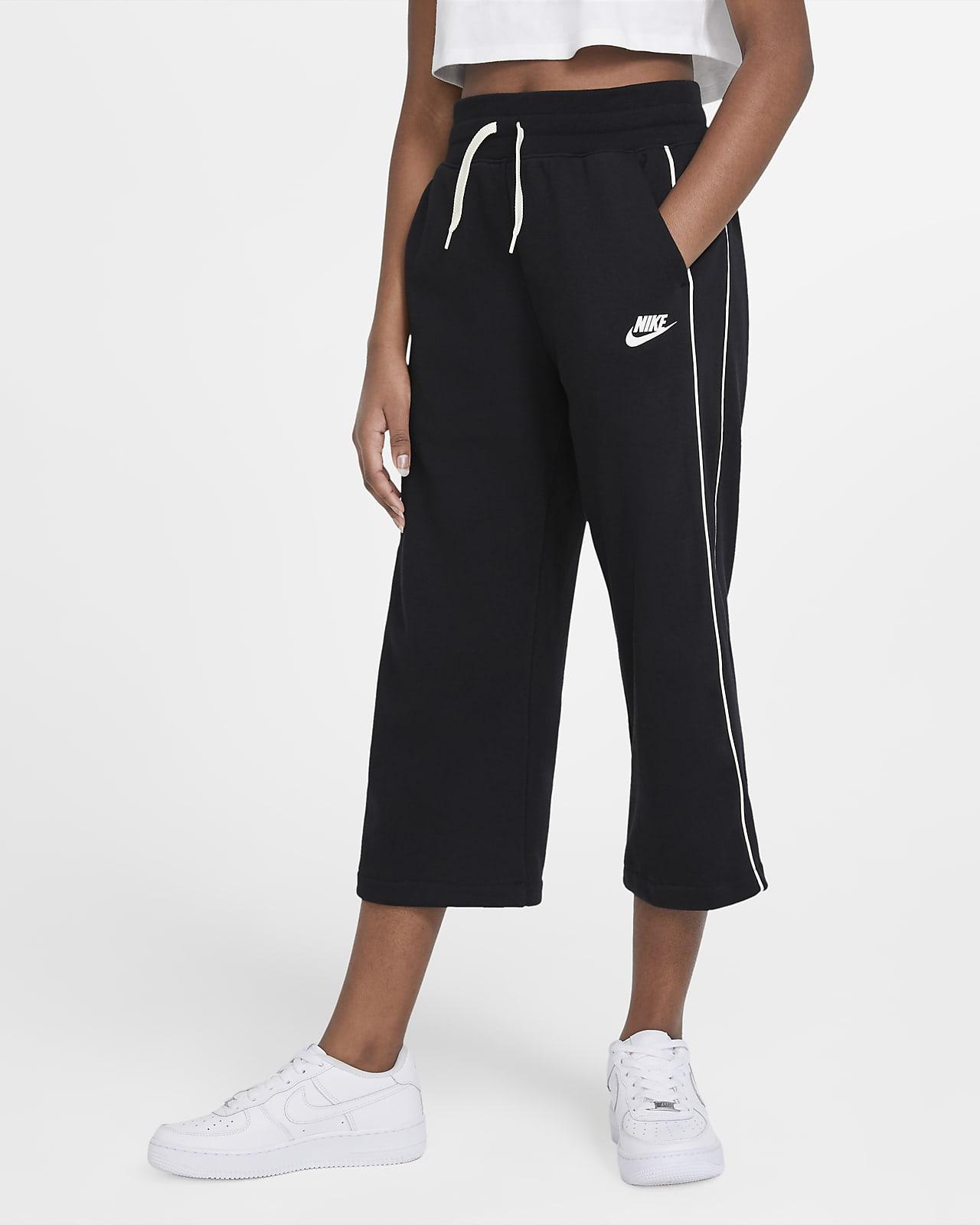 Spodnie z dzianiny dla dużych dzieci (dziewcząt) Nike Sportswear
