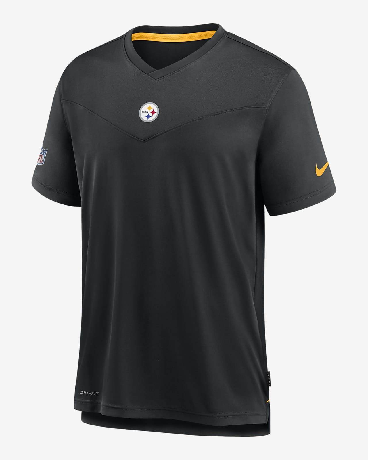 Nike Dri-FIT Sideline Coaches (NFL Pittsburgh Steelers) Men's V-Neck T-Shirt