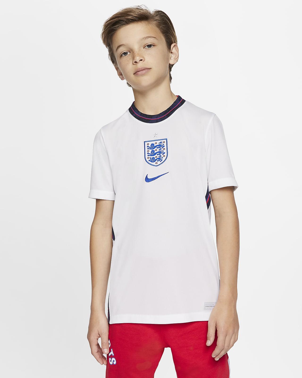 England 2020 fodbold-hjemmebanetrøje til store børn