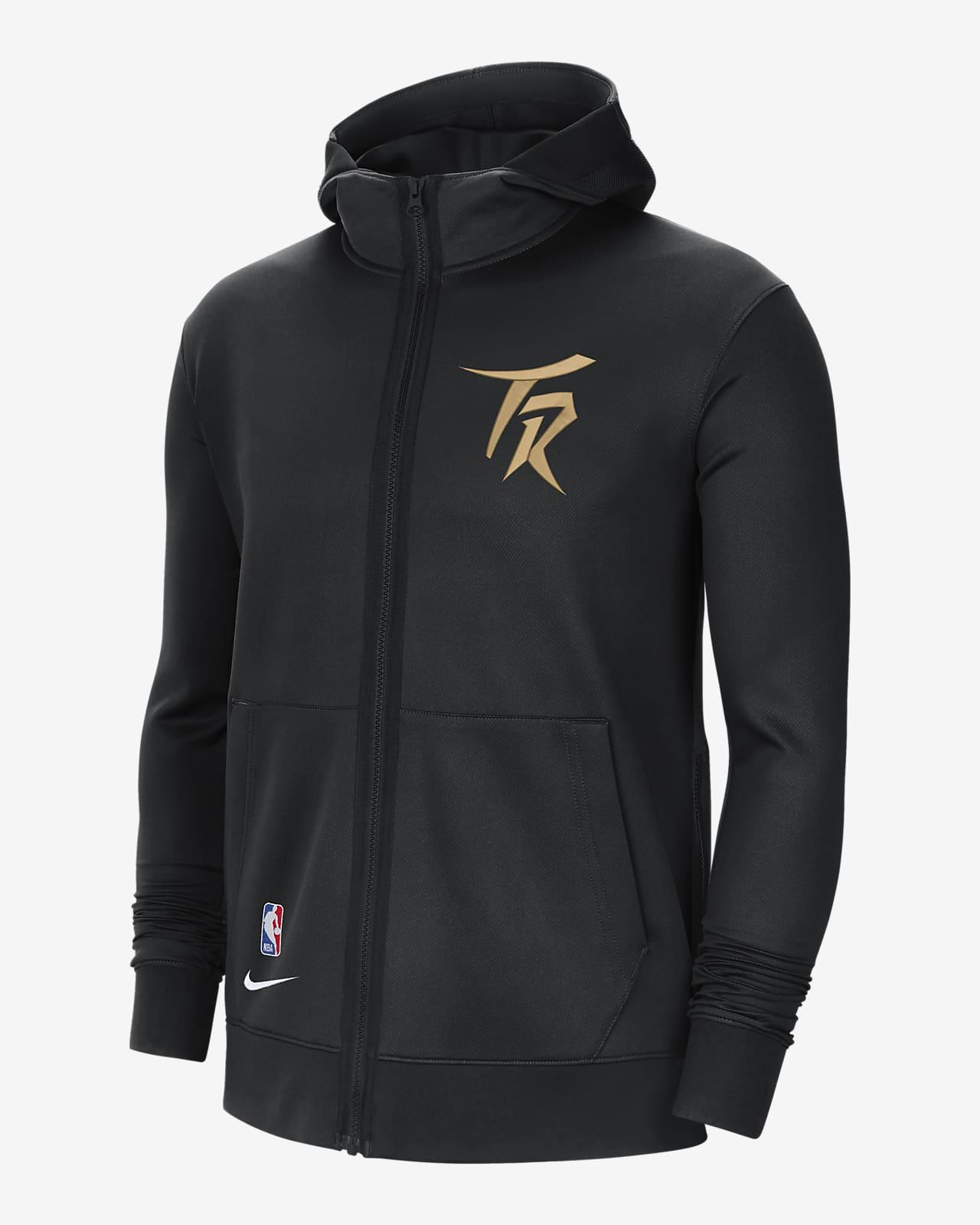 Sudadera con capucha de la NBA Nike Therma Flex para hombre Toronto Raptors Showtime City Edition