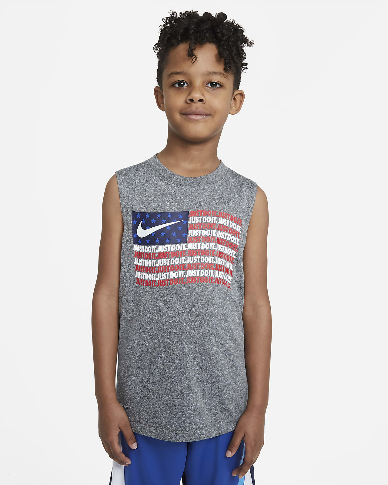 Camiseta de tirantes Nike Dri-FIT para niños talla pequeña