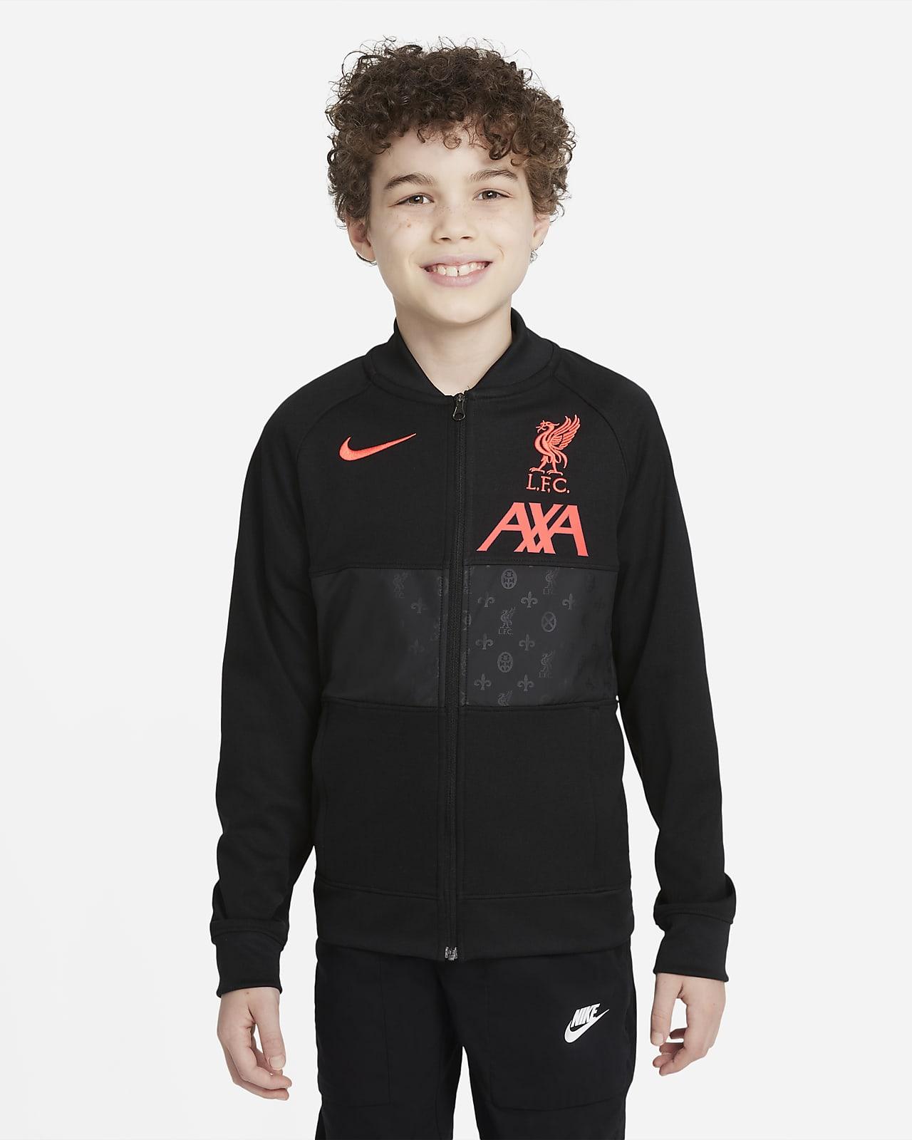 Chamarra de entrenamiento de fútbol con cierre completo para niños talla grande Liverpool FC