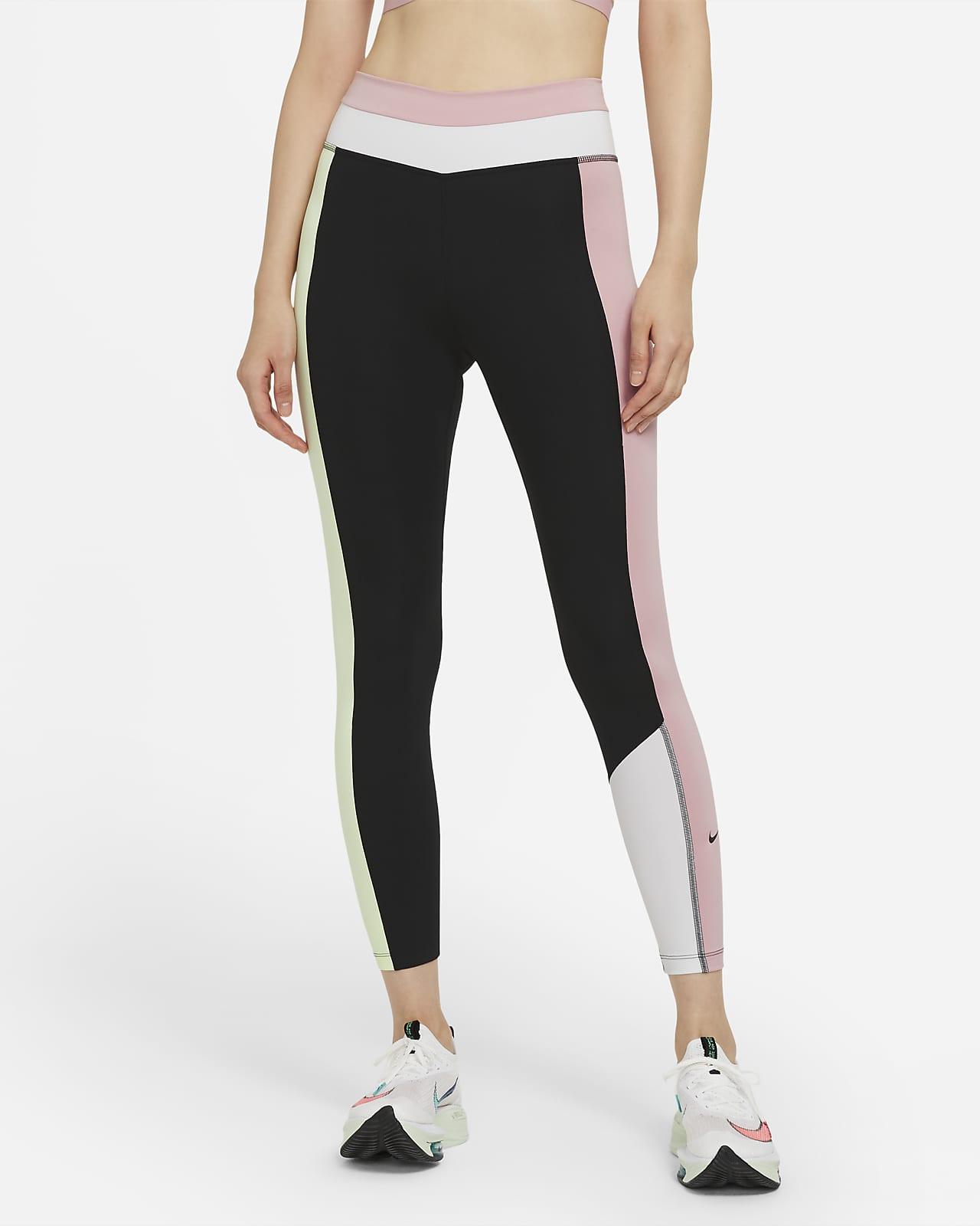 Nike One 女款中腰色塊九分內搭褲