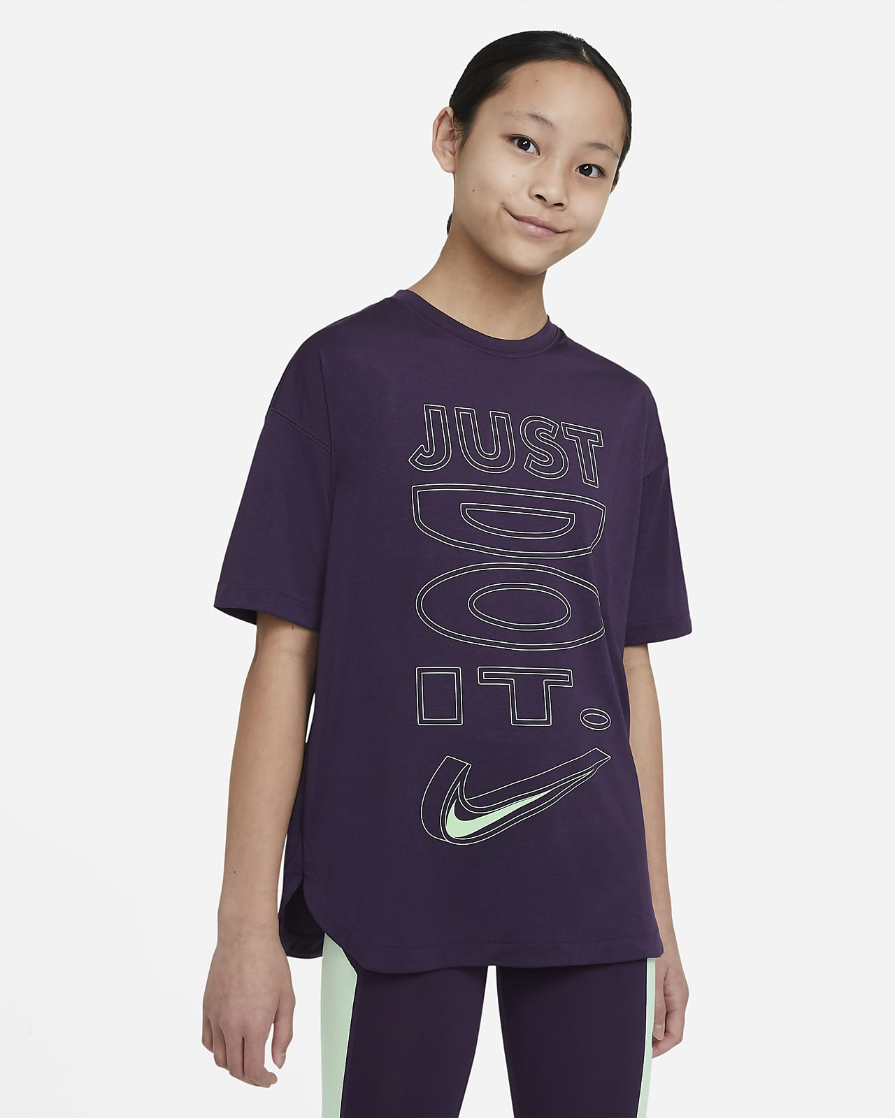 Nike Dri-FIT Big Kids' (Girls') Short-Sleeve Training Top