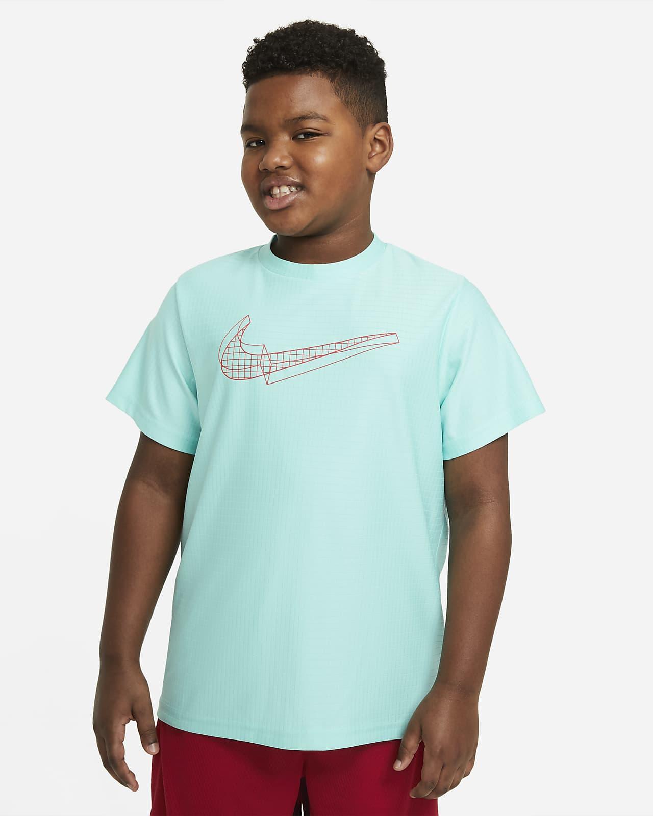 Camiseta de entrenamiento de manga corta con gráfico para niños talla grande Nike (talla extendida)