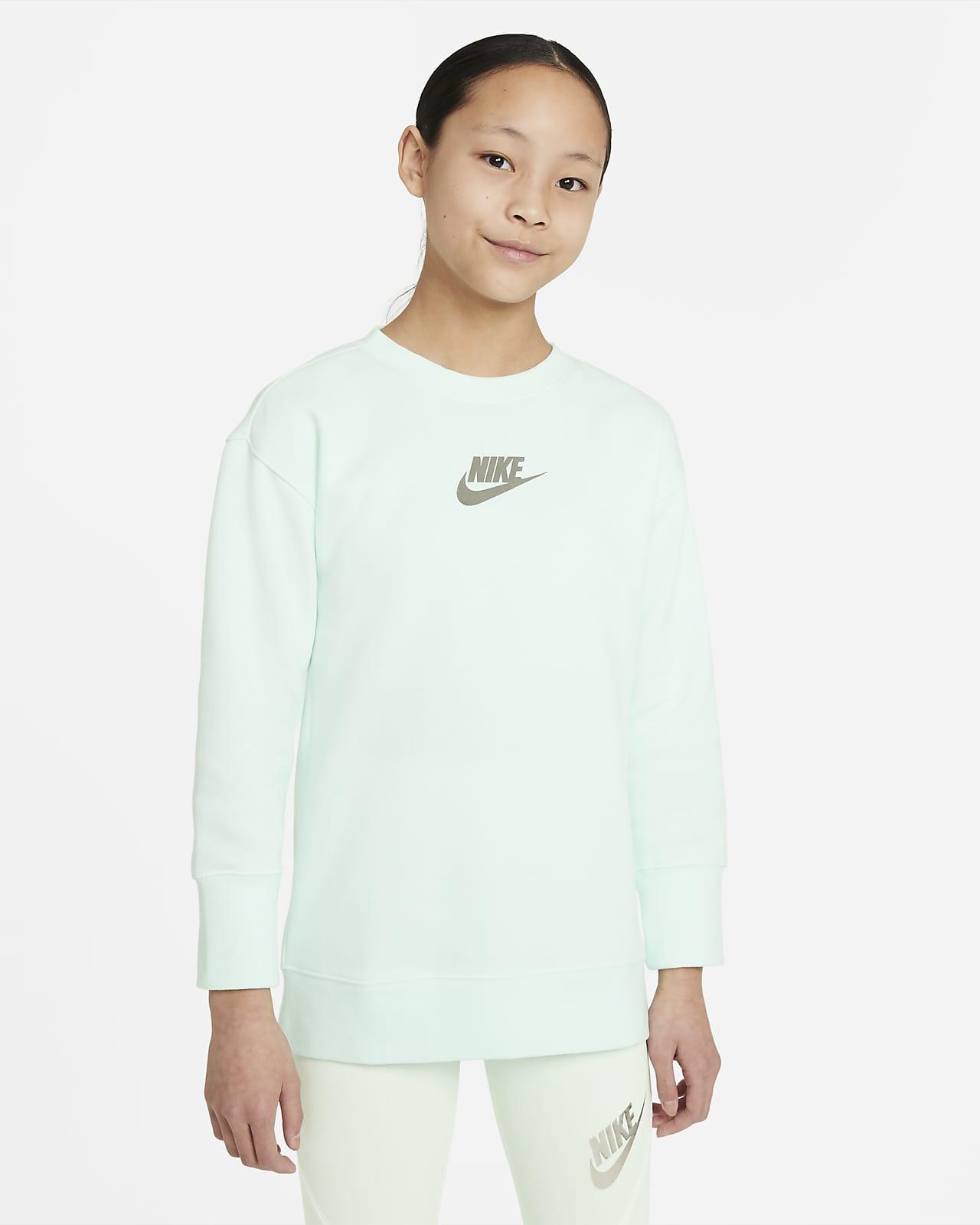 Mikina Nike Sportswear skulatým výstřihem pro větší děti (dívky)