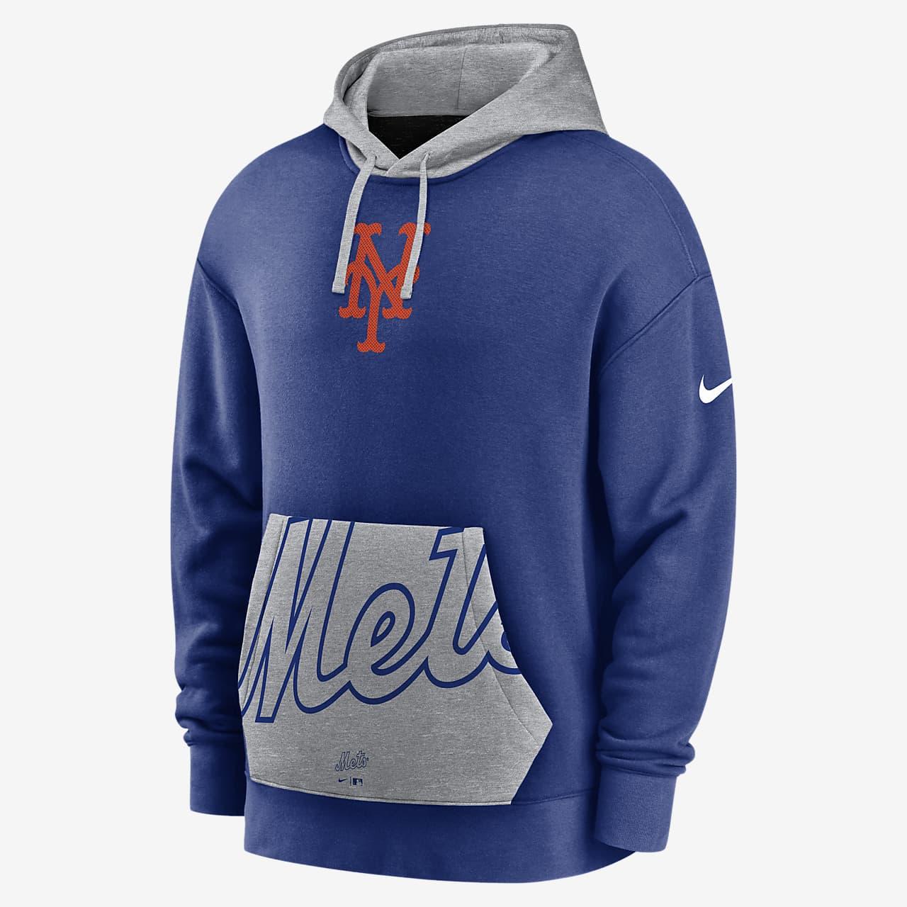 Sudadera con capucha sin cierre para hombre Nike Crop Pocket Heritage (MLB  New York Mets)