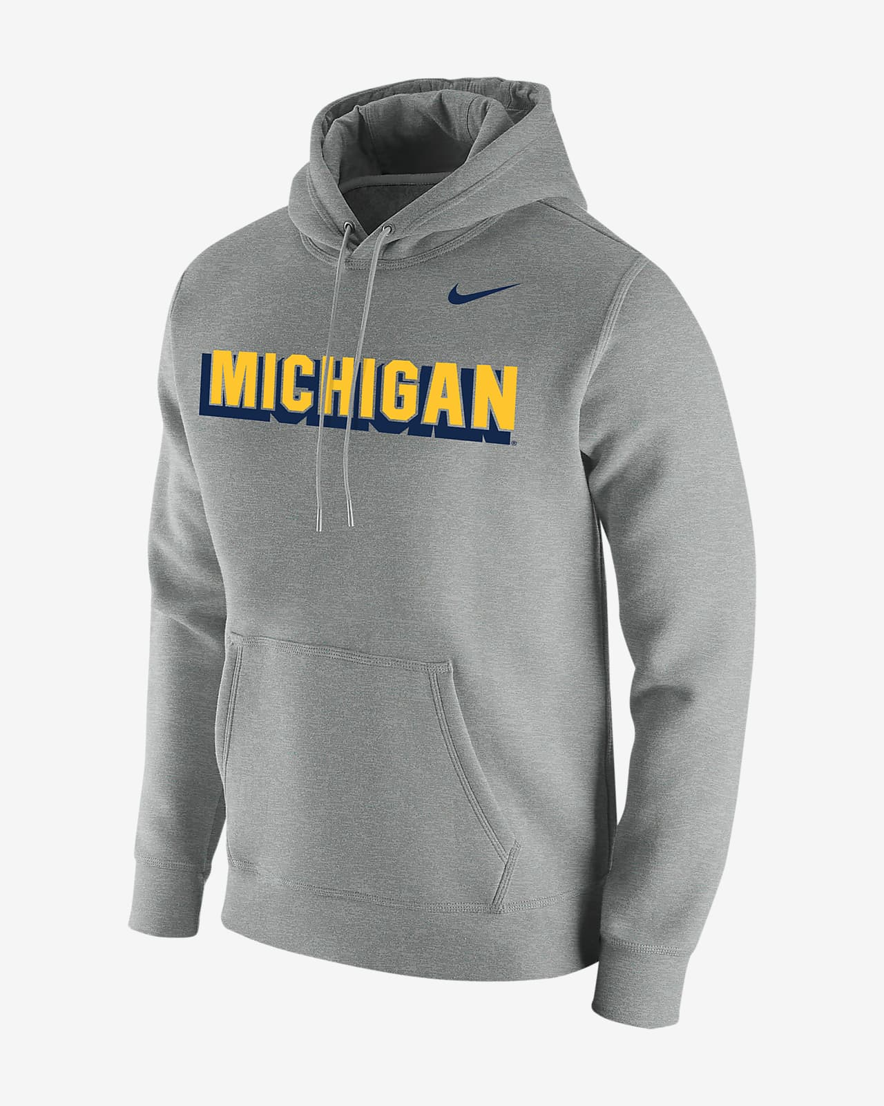 Nike College Club Fleece (Michigan) Men's Hoodie