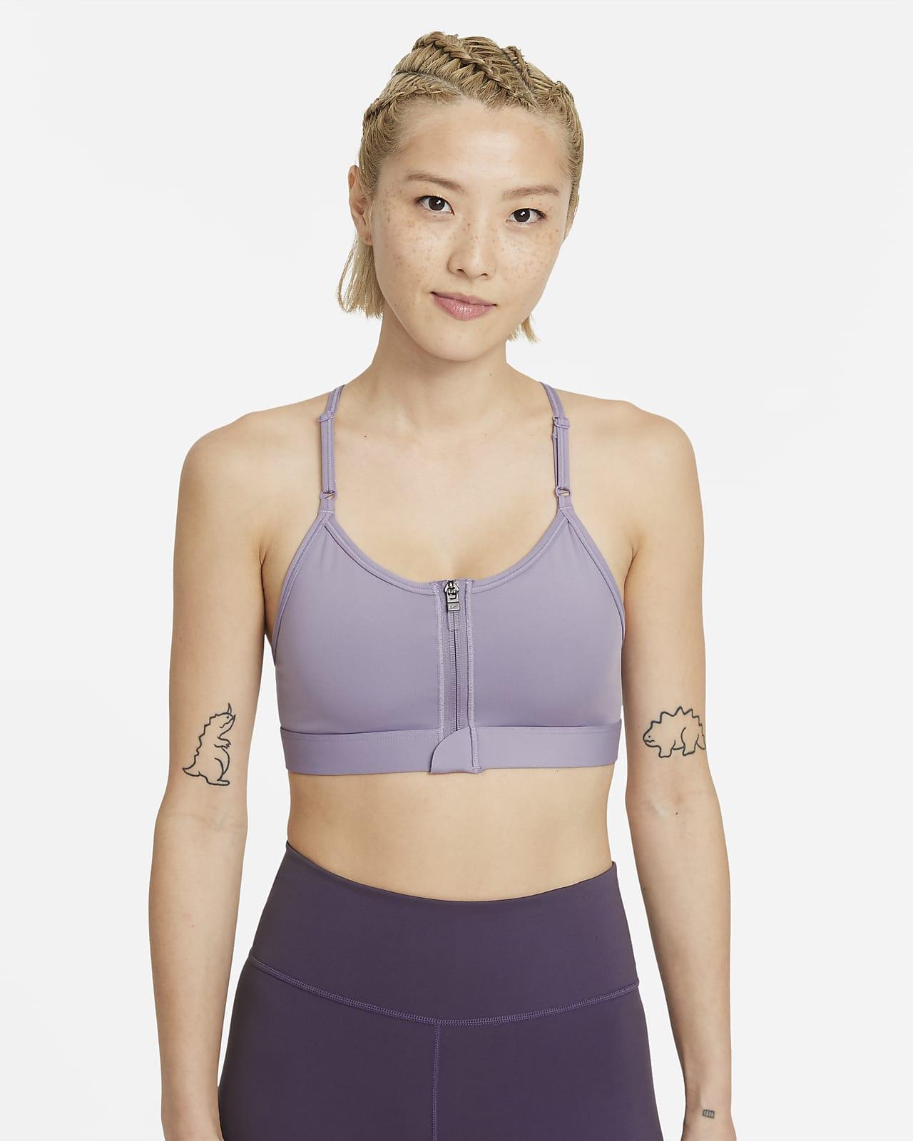 Nike Dri-FIT Indy Zip-Front 女款輕度支撐型襯墊運動內衣