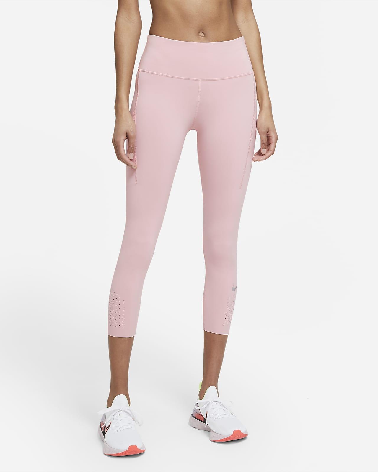 Женские укороченные леггинсы для бега со средней посадкой и карманом Nike Epic Luxe